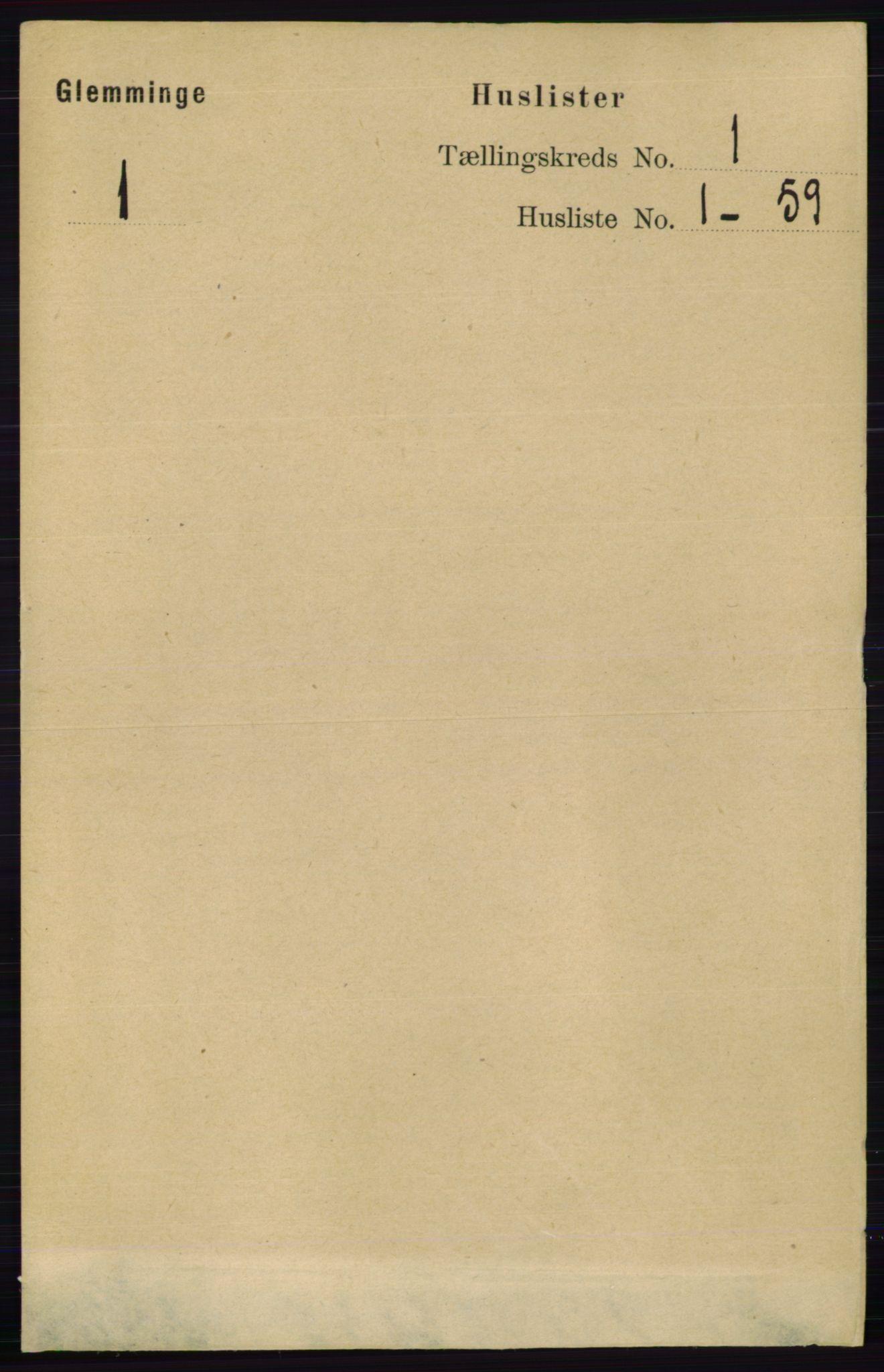 RA, Folketelling 1891 for 0132 Glemmen herred, 1891, s. 44