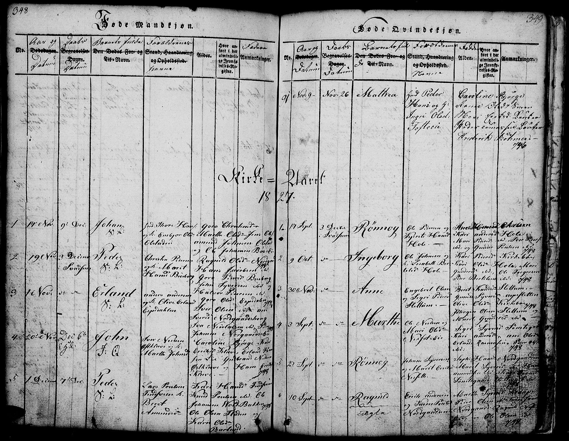 SAH, Gausdal prestekontor, Klokkerbok nr. 1, 1817-1848, s. 348-349