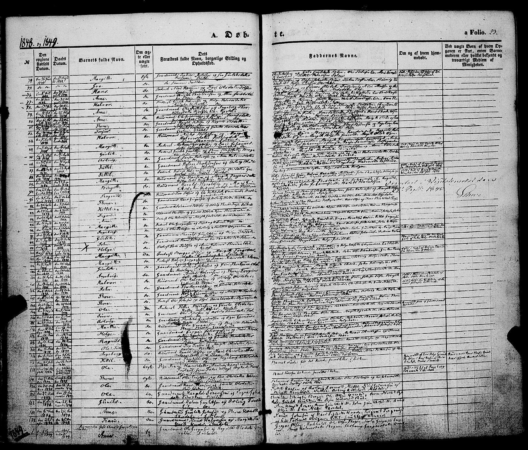 SAKO, Hjartdal kirkebøker, F/Fa/L0008: Ministerialbok nr. I 8, 1844-1859, s. 23