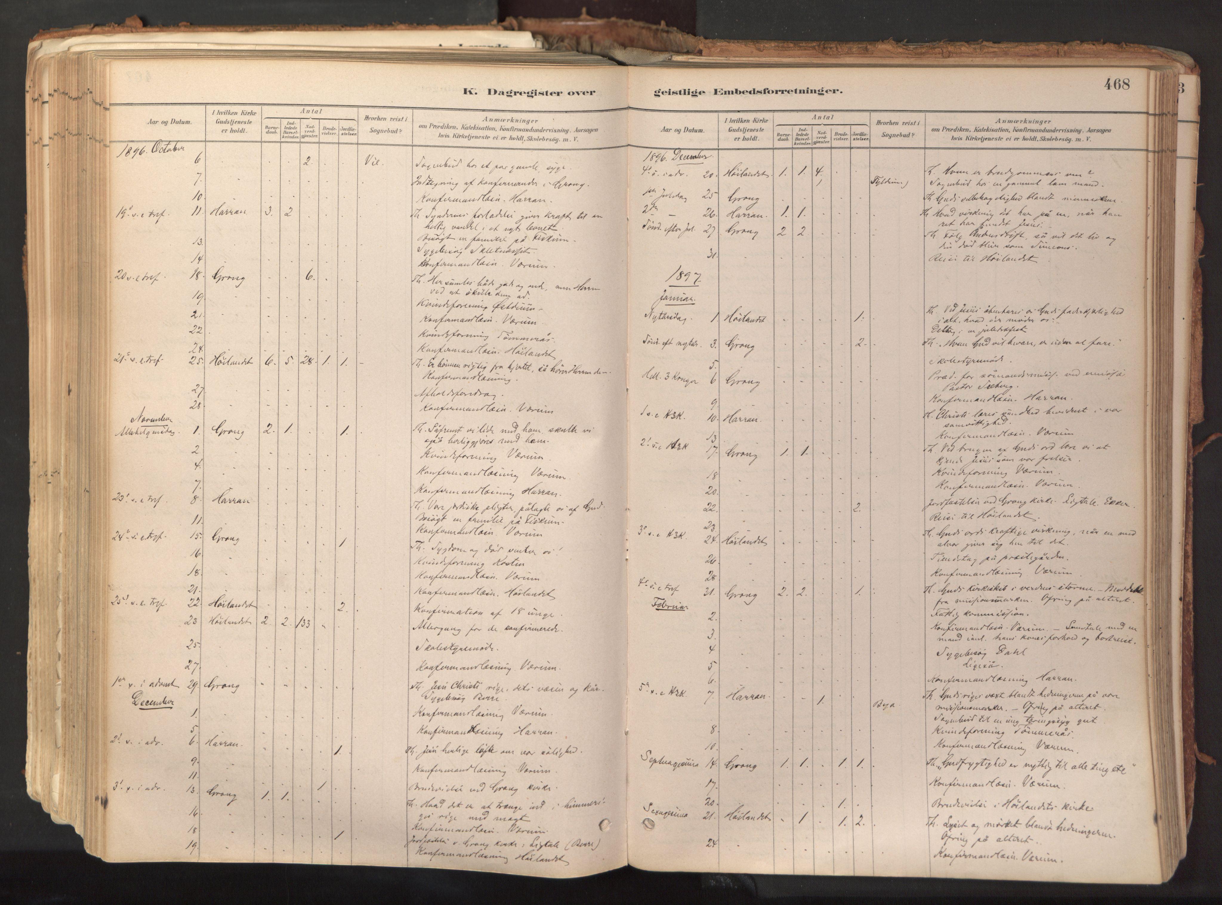 SAT, Ministerialprotokoller, klokkerbøker og fødselsregistre - Nord-Trøndelag, 758/L0519: Ministerialbok nr. 758A04, 1880-1926, s. 468