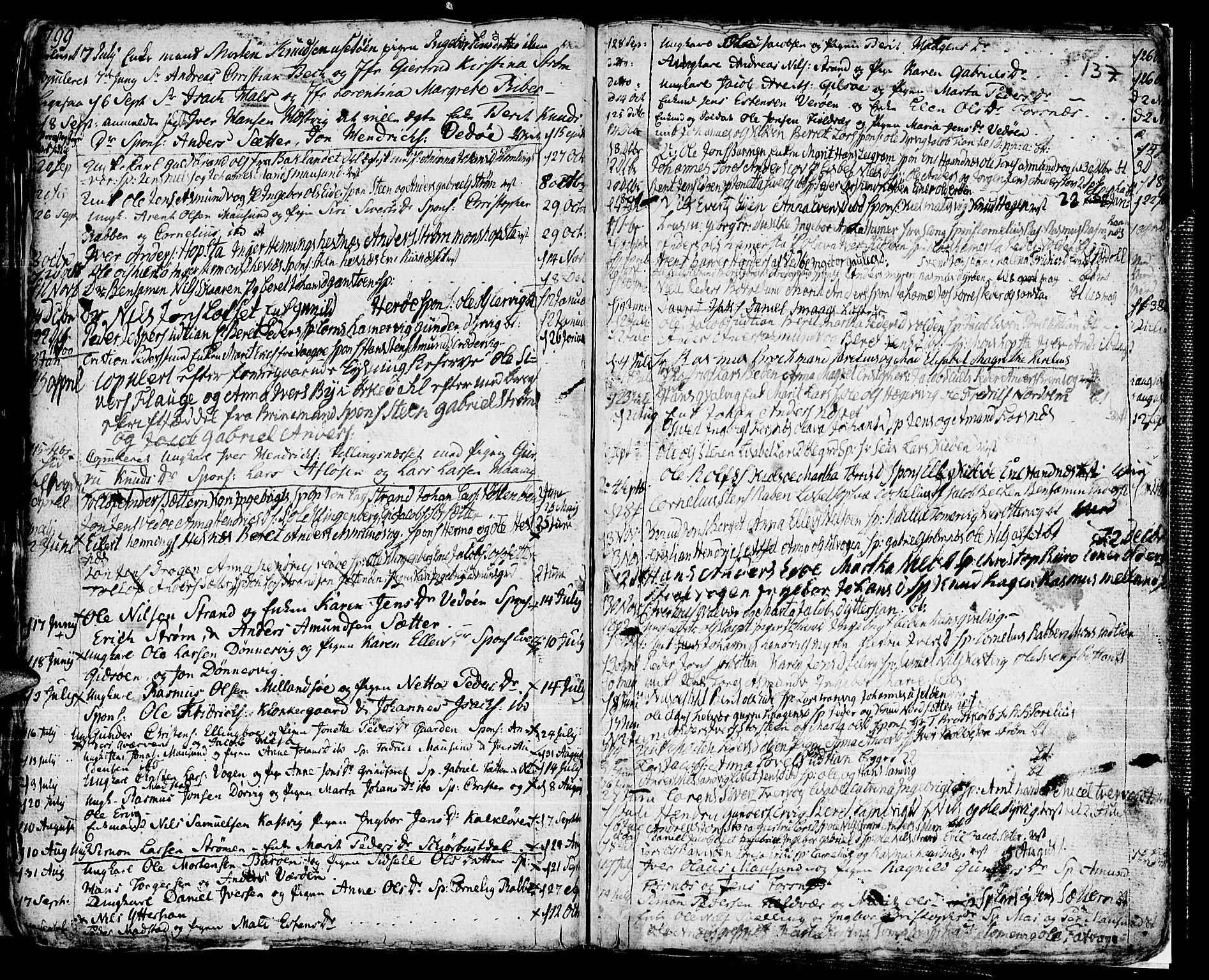 SAT, Ministerialprotokoller, klokkerbøker og fødselsregistre - Sør-Trøndelag, 634/L0526: Ministerialbok nr. 634A02, 1775-1818, s. 137