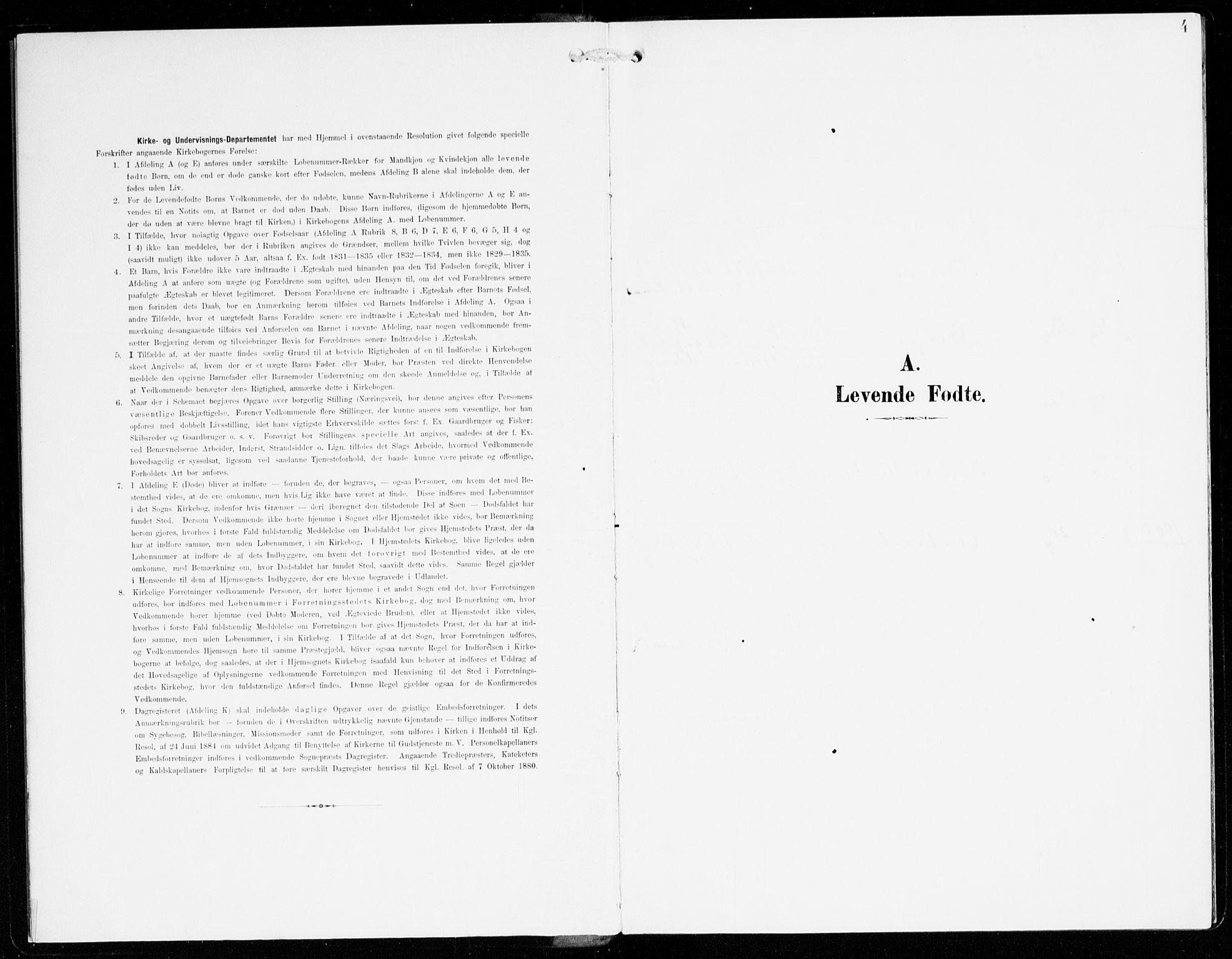 SAB, Hyllestad Sokneprestembete, Ministerialbok nr. C 2, 1904-1917, s. 4
