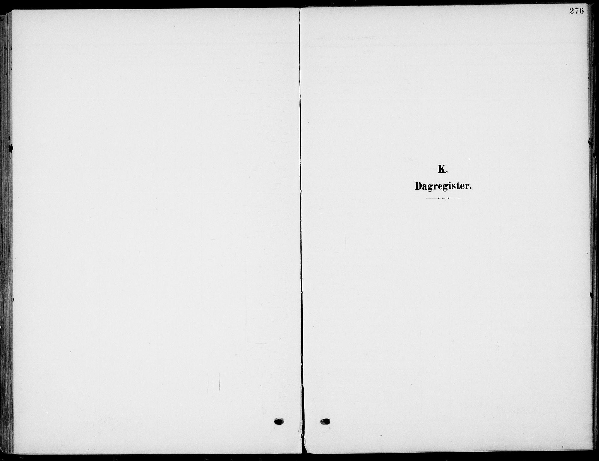 SAKO, Eidanger kirkebøker, F/Fa/L0013: Ministerialbok nr. 13, 1900-1913, s. 276