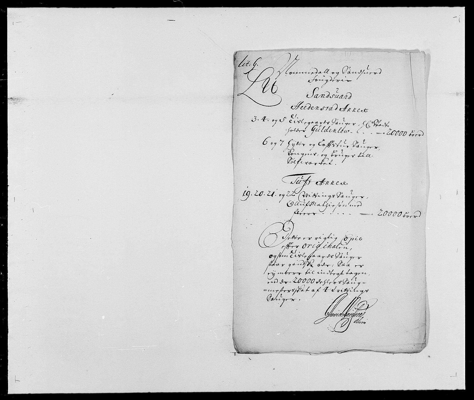 RA, Rentekammeret inntil 1814, Reviderte regnskaper, Fogderegnskap, R24/L1573: Fogderegnskap Numedal og Sandsvær, 1687-1691, s. 398