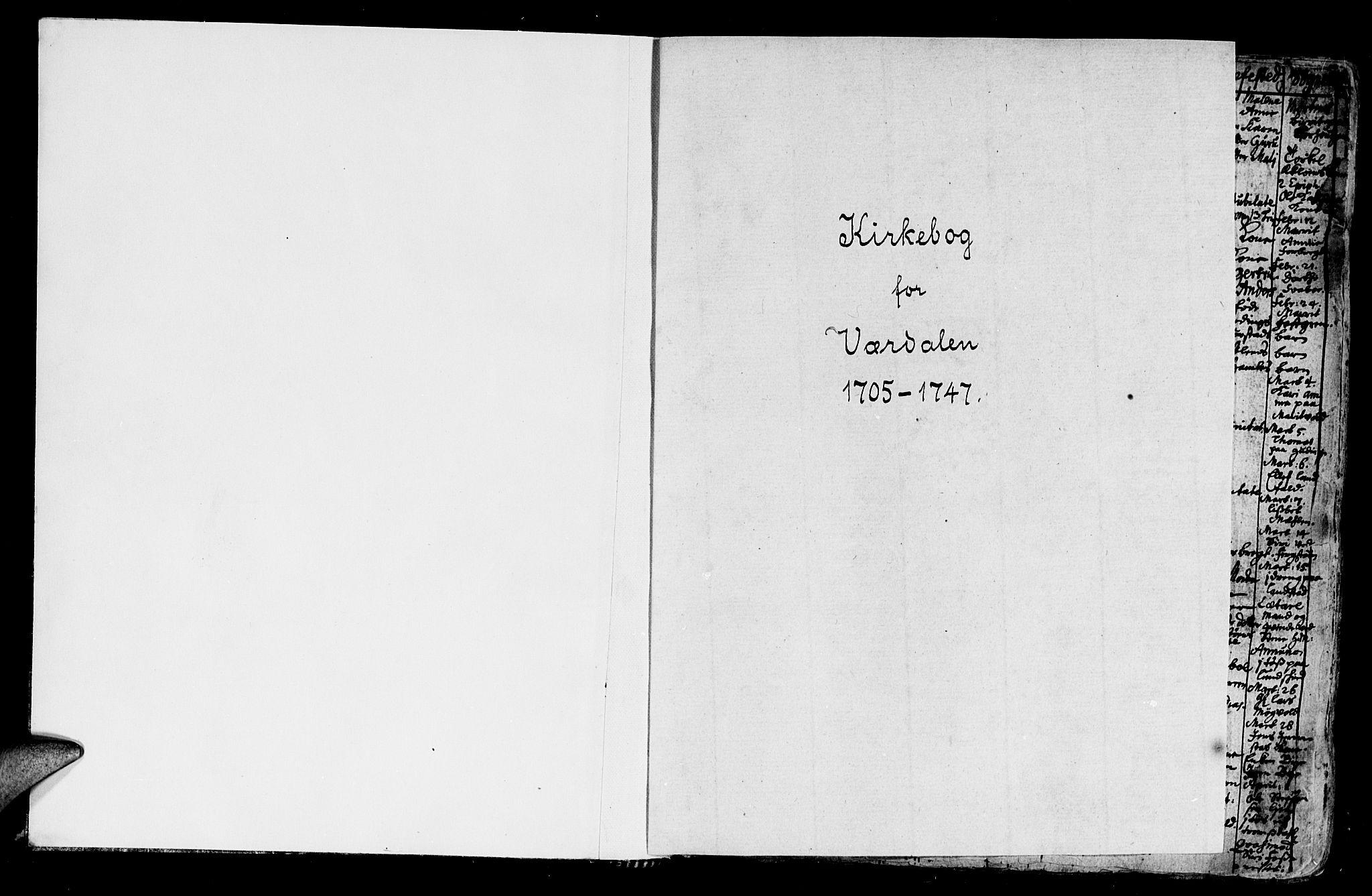 SAT, Ministerialprotokoller, klokkerbøker og fødselsregistre - Nord-Trøndelag, 723/L0230: Ministerialbok nr. 723A01, 1705-1747