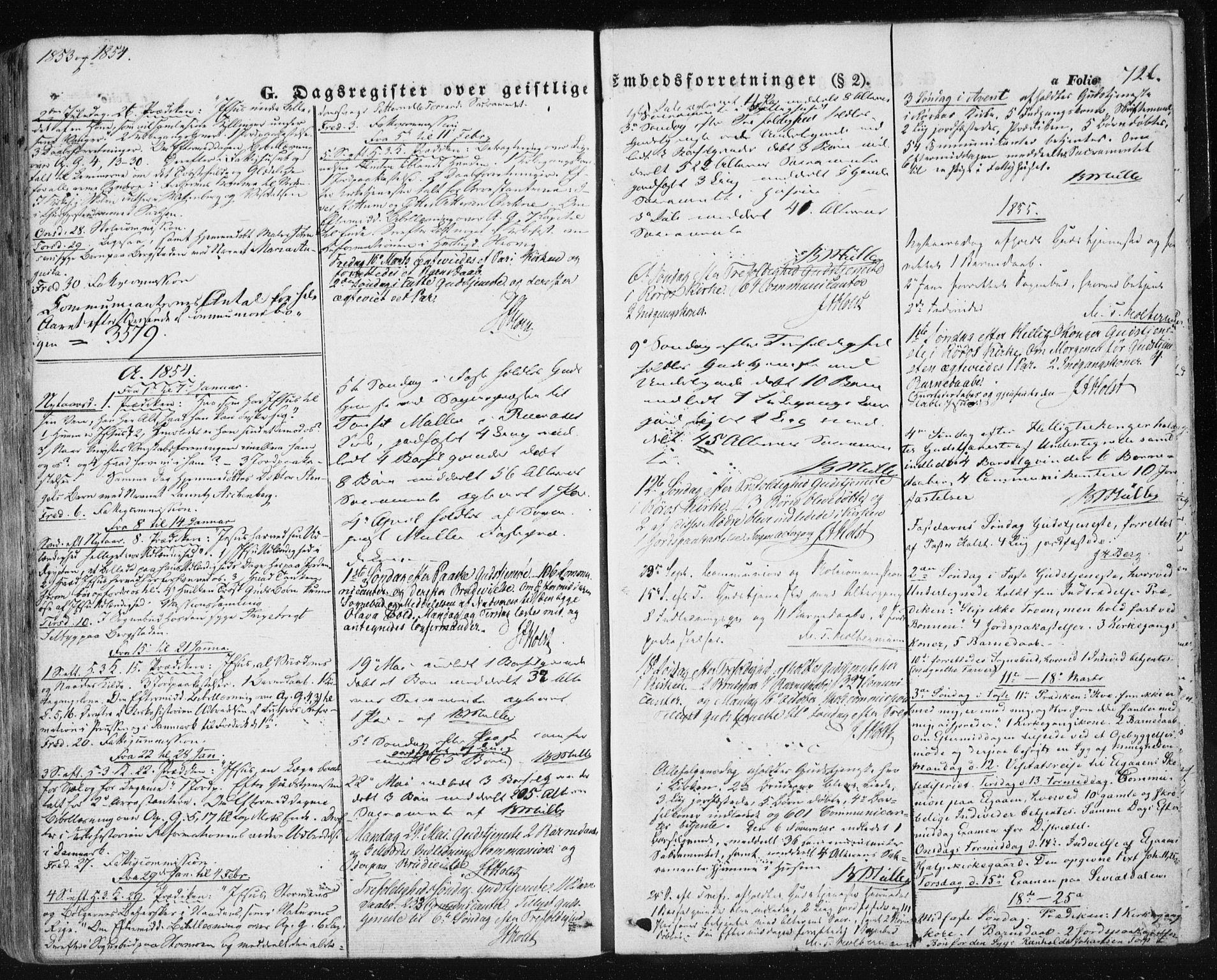 SAT, Ministerialprotokoller, klokkerbøker og fødselsregistre - Sør-Trøndelag, 681/L0931: Ministerialbok nr. 681A09, 1845-1859, s. 726