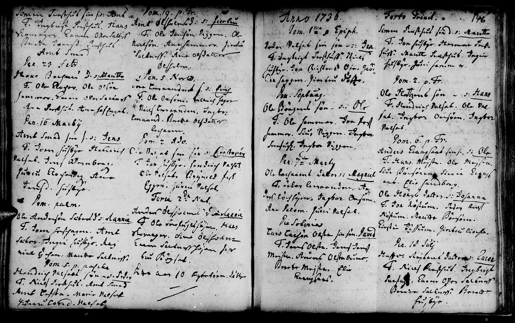 SAT, Ministerialprotokoller, klokkerbøker og fødselsregistre - Sør-Trøndelag, 666/L0783: Ministerialbok nr. 666A01, 1702-1753, s. 146