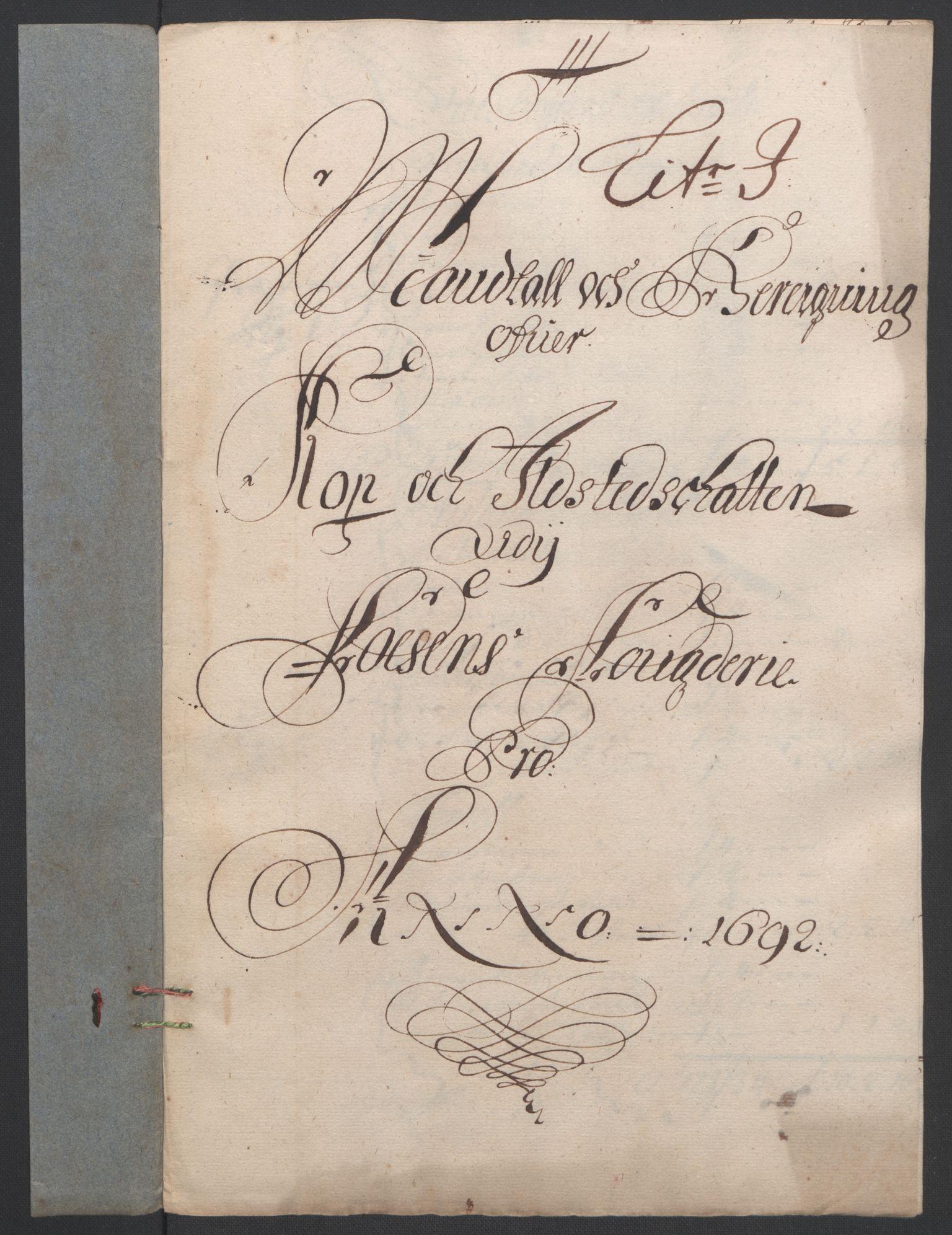 RA, Rentekammeret inntil 1814, Reviderte regnskaper, Fogderegnskap, R57/L3849: Fogderegnskap Fosen, 1692-1693, s. 143
