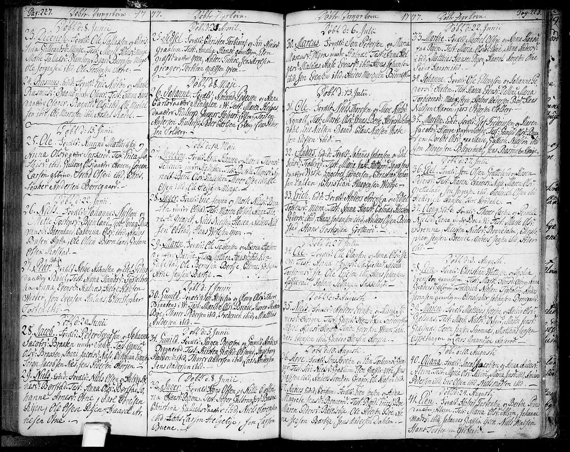 SAO, Tune prestekontor Kirkebøker, F/Fa/L0002: Ministerialbok nr. 2, 1758-1781, s. 227-228
