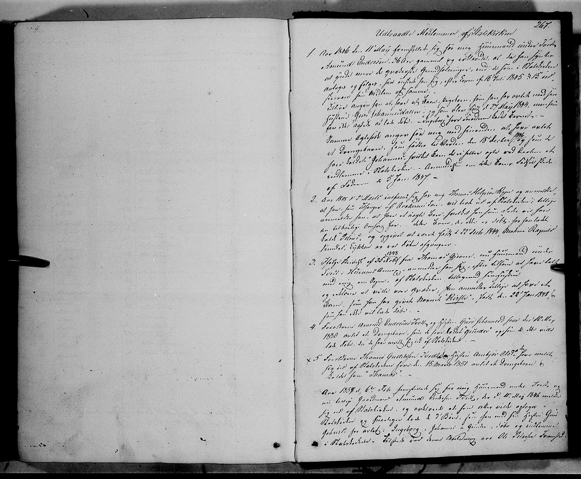 SAH, Vang prestekontor, Valdres, Ministerialbok nr. 6, 1846-1864, s. 267