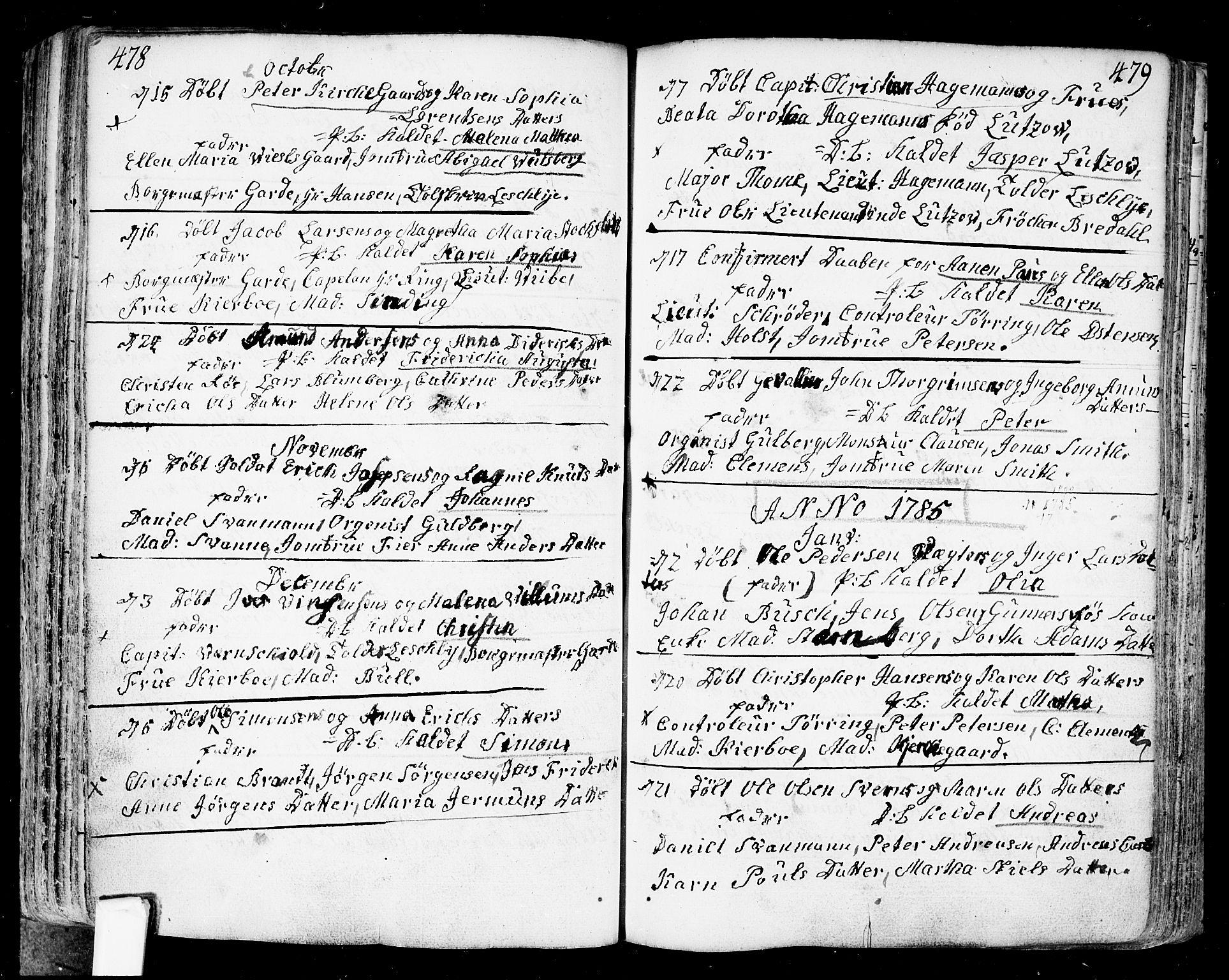 SAO, Fredrikstad prestekontor Kirkebøker, F/Fa/L0002: Ministerialbok nr. 2, 1750-1804, s. 478-479