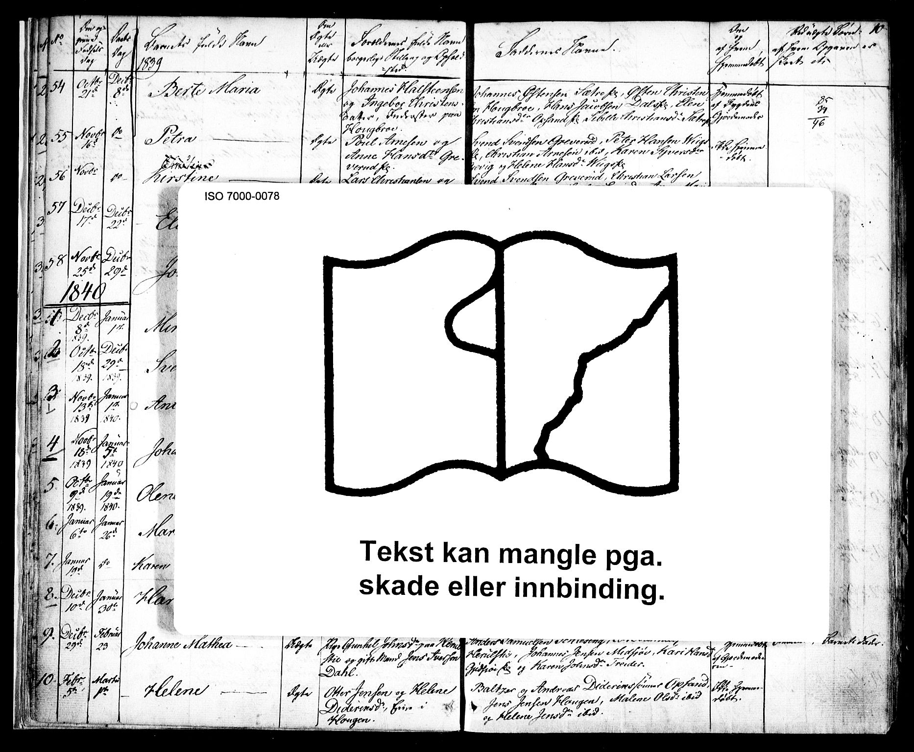 SAO, Kråkstad prestekontor Kirkebøker, F/Fa/L0005: Ministerialbok nr. I 5, 1837-1847, s. 10