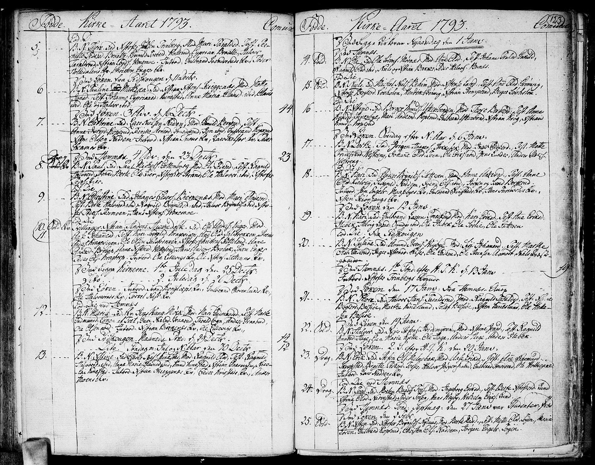 SAO, Høland prestekontor Kirkebøker, F/Fa/L0005: Ministerialbok nr. I 5, 1780-1793, s. 123
