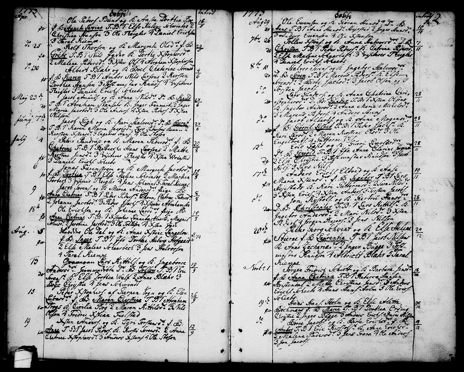 SAKO, Brevik kirkebøker, F/Fa/L0003: Ministerialbok nr. 3, 1764-1814, s. 12