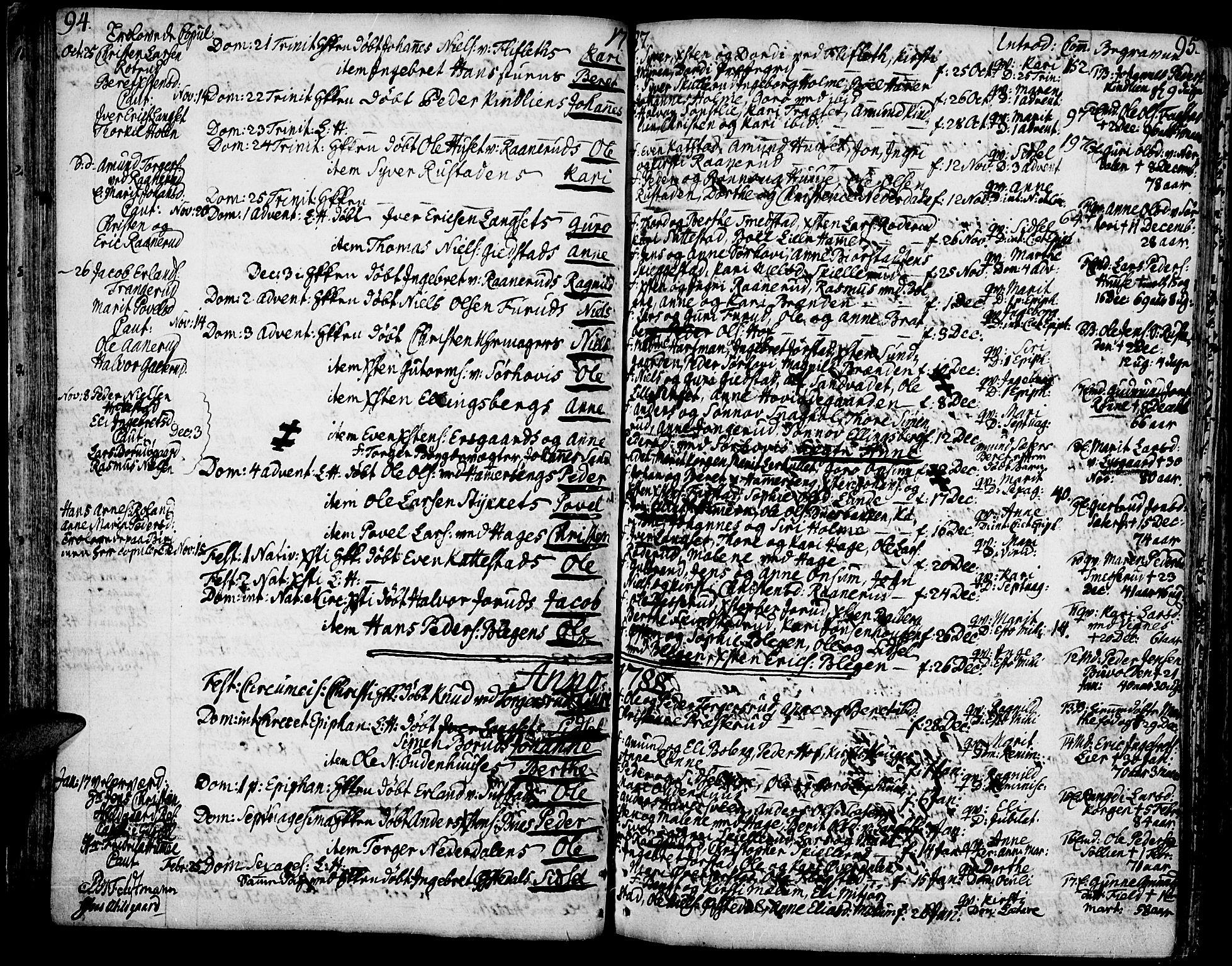 SAH, Fåberg prestekontor, Ministerialbok nr. 2, 1775-1818, s. 94-95