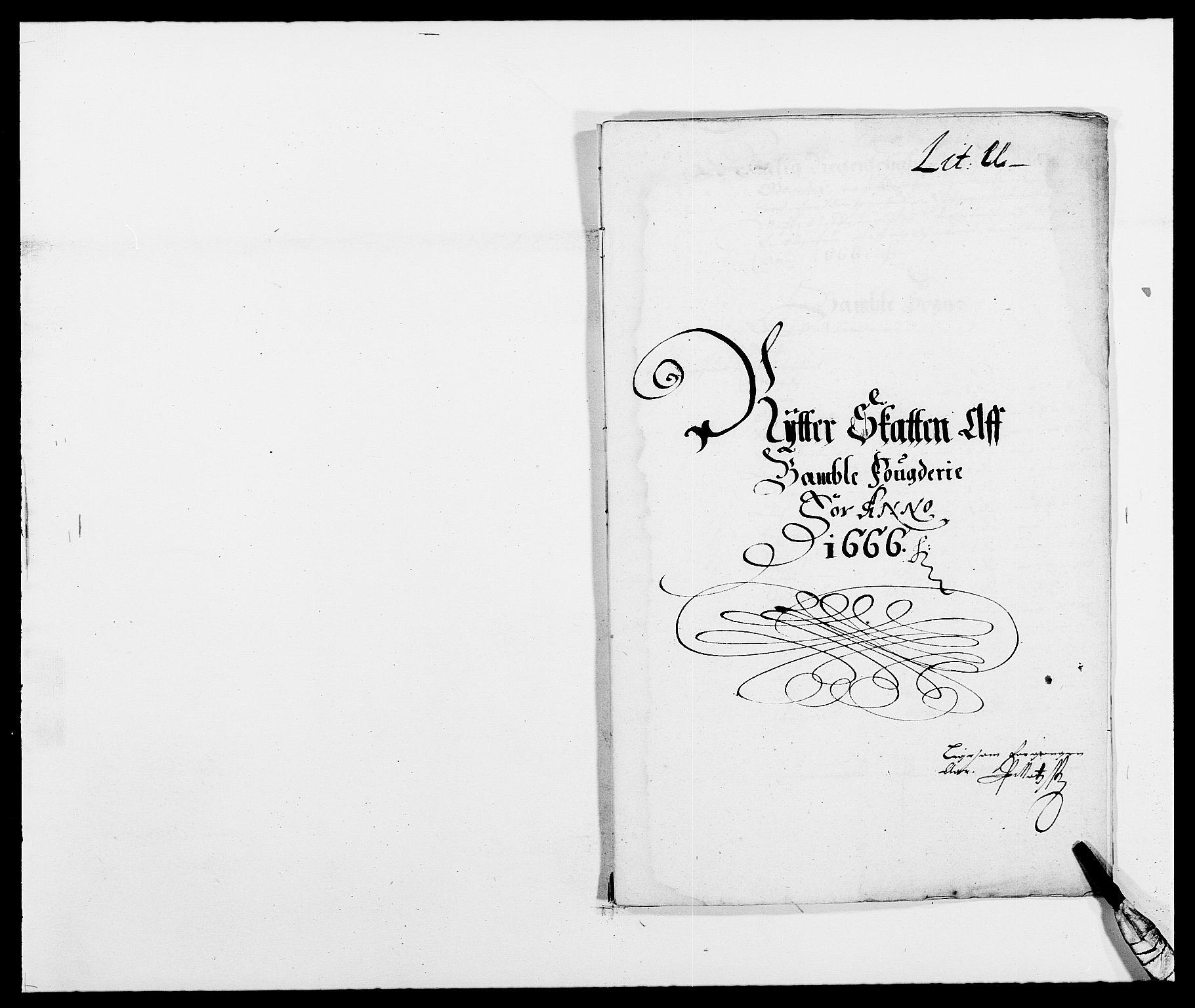RA, Rentekammeret inntil 1814, Reviderte regnskaper, Fogderegnskap, R34/L2039: Fogderegnskap Bamble, 1662-1669, s. 40