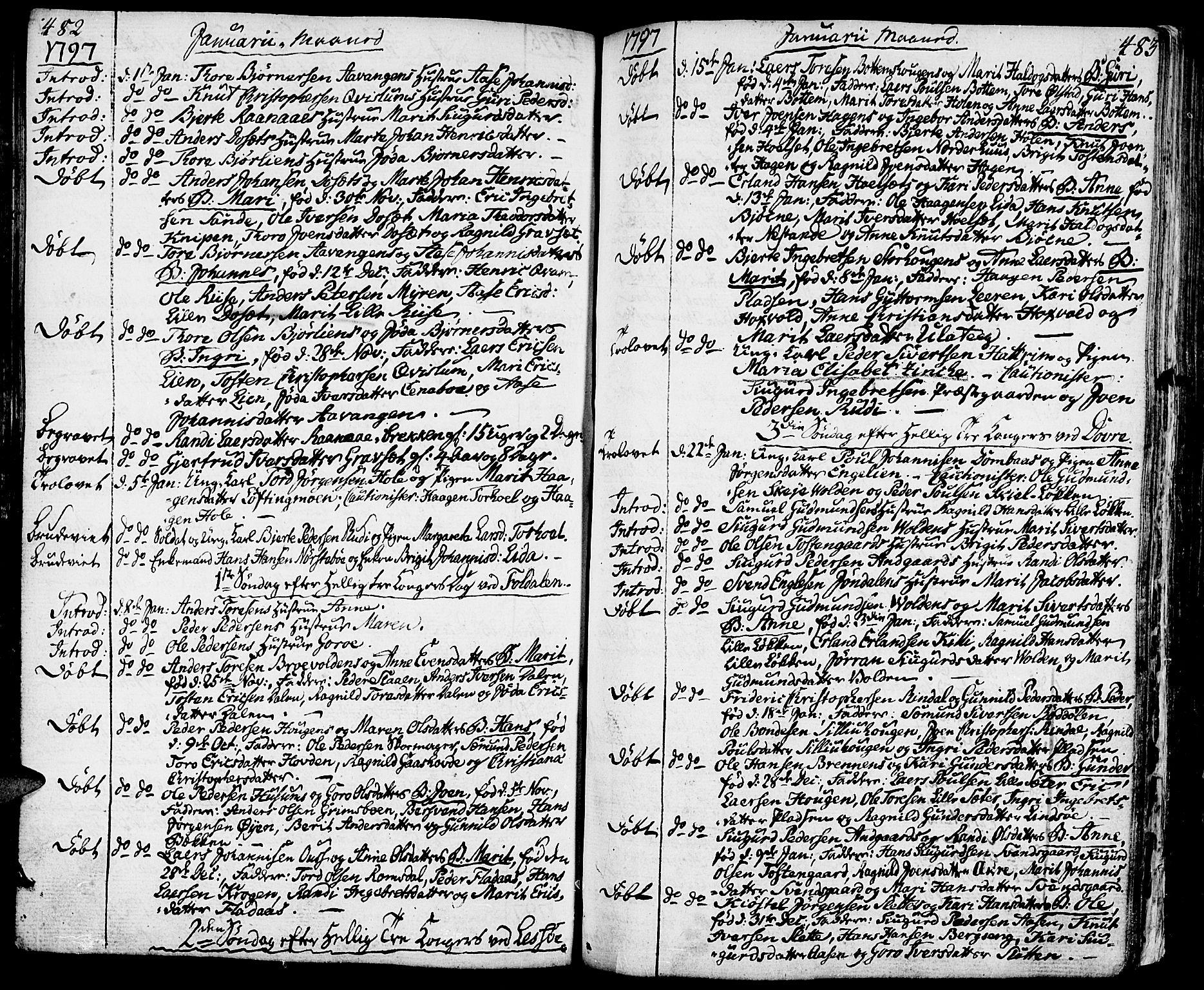 SAH, Lesja prestekontor, Ministerialbok nr. 3, 1777-1819, s. 482-483