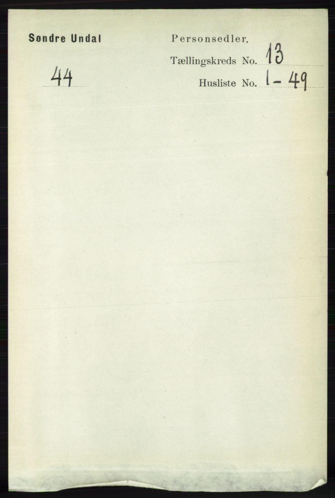 RA, Folketelling 1891 for 1029 Sør-Audnedal herred, 1891, s. 5790