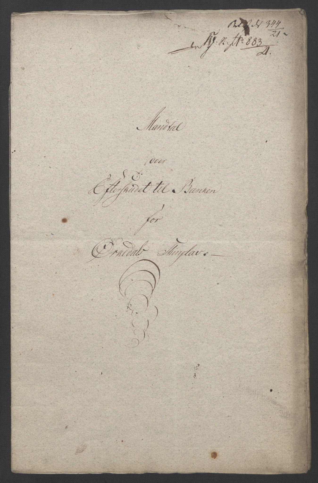 NOBA, Norges Bank/Sølvskatten 1816*, 1816-1821, s. 25