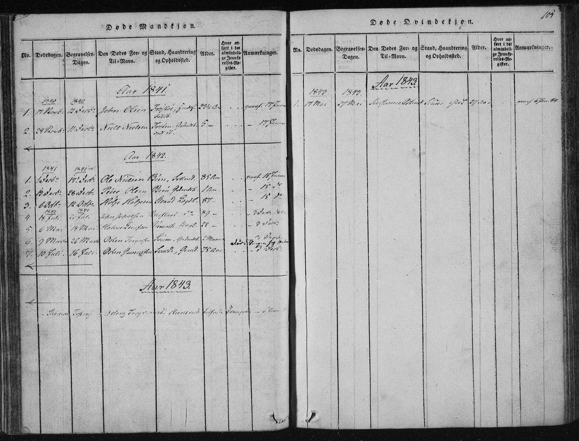SAKO, Tinn kirkebøker, F/Fc/L0001: Ministerialbok nr. III 1, 1815-1843, s. 105