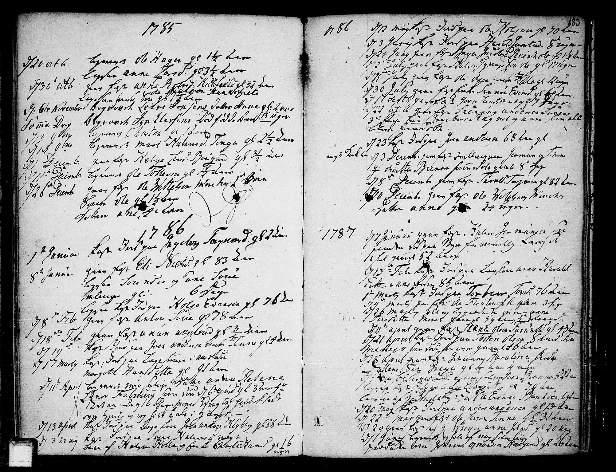 SAKO, Heddal kirkebøker, F/Fa/L0004: Ministerialbok nr. I 4, 1784-1814, s. 183
