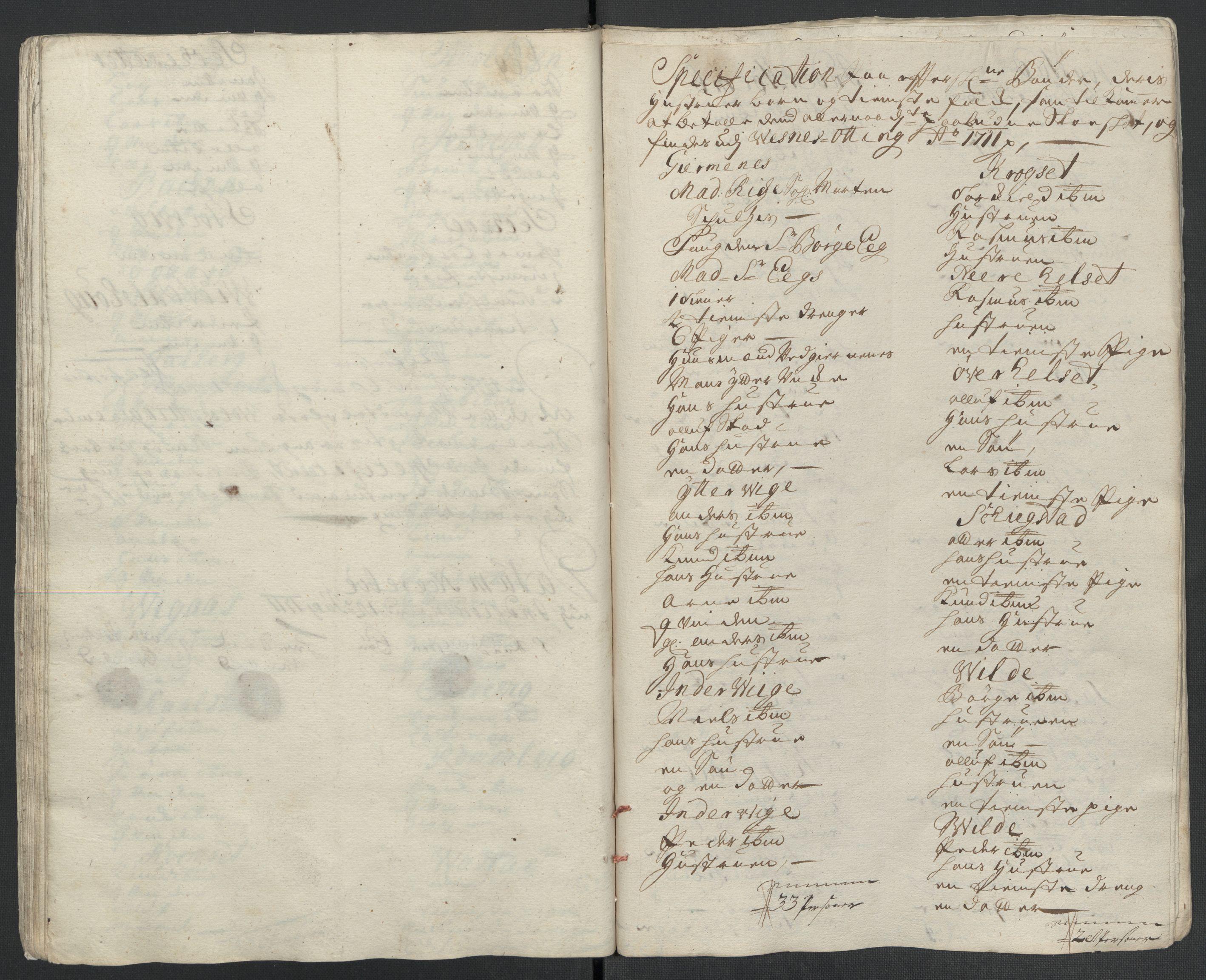 RA, Rentekammeret inntil 1814, Reviderte regnskaper, Fogderegnskap, R55/L3660: Fogderegnskap Romsdal, 1711, s. 198
