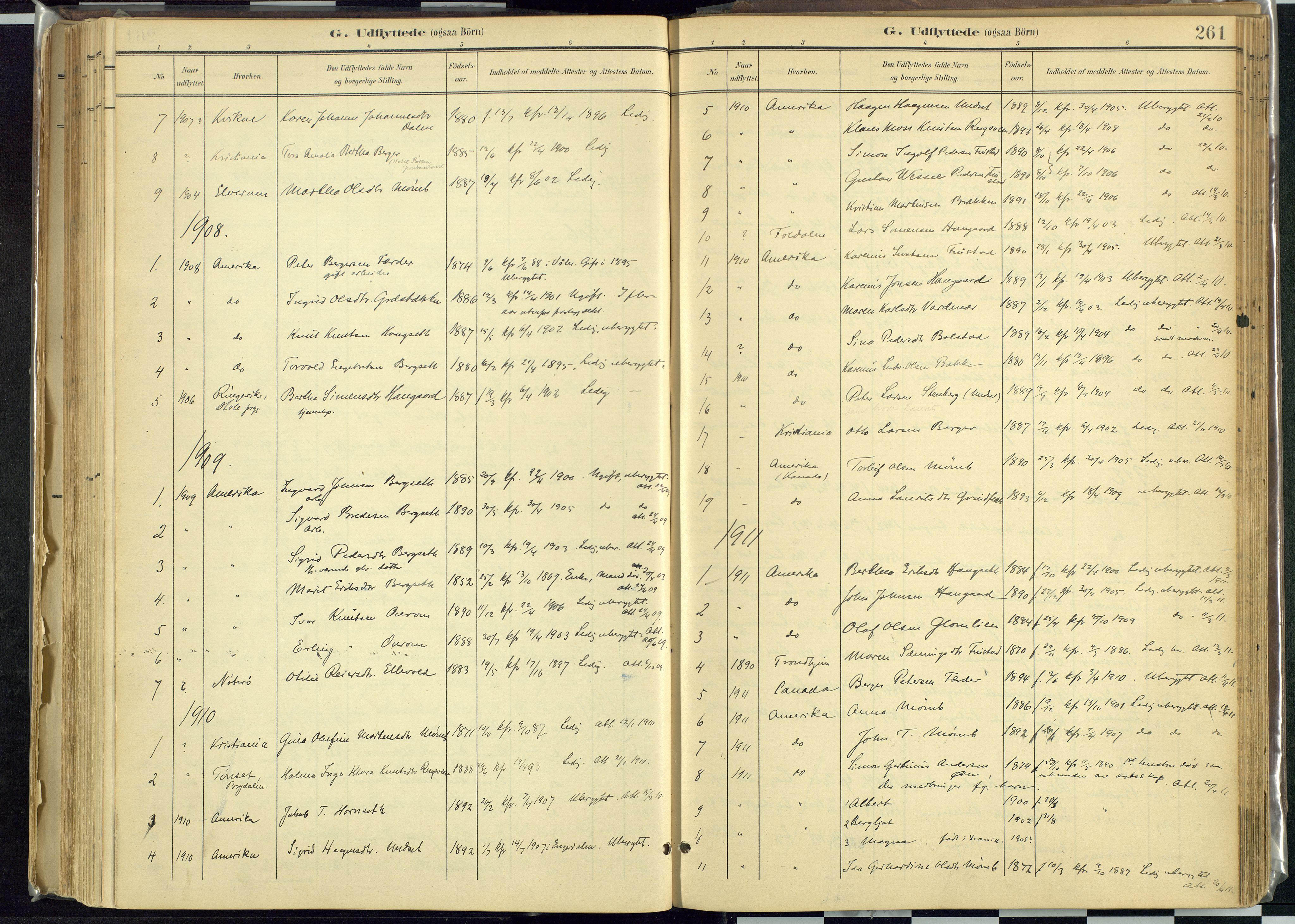 SAH, Rendalen prestekontor, H/Ha/Haa: Ministerialbok nr. 12, 1901-1928, s. 261