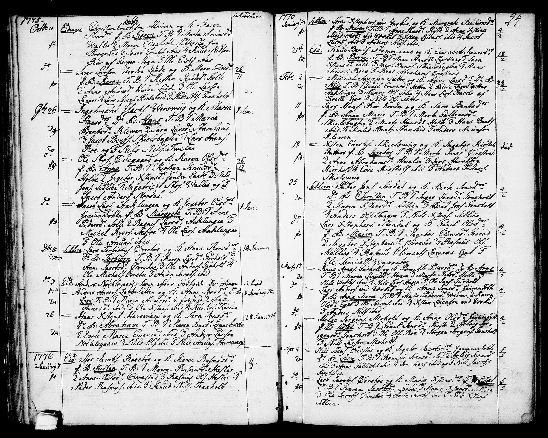 SAKO, Eidanger kirkebøker, F/Fa/L0006: Ministerialbok nr. 6, 1764-1814, s. 24