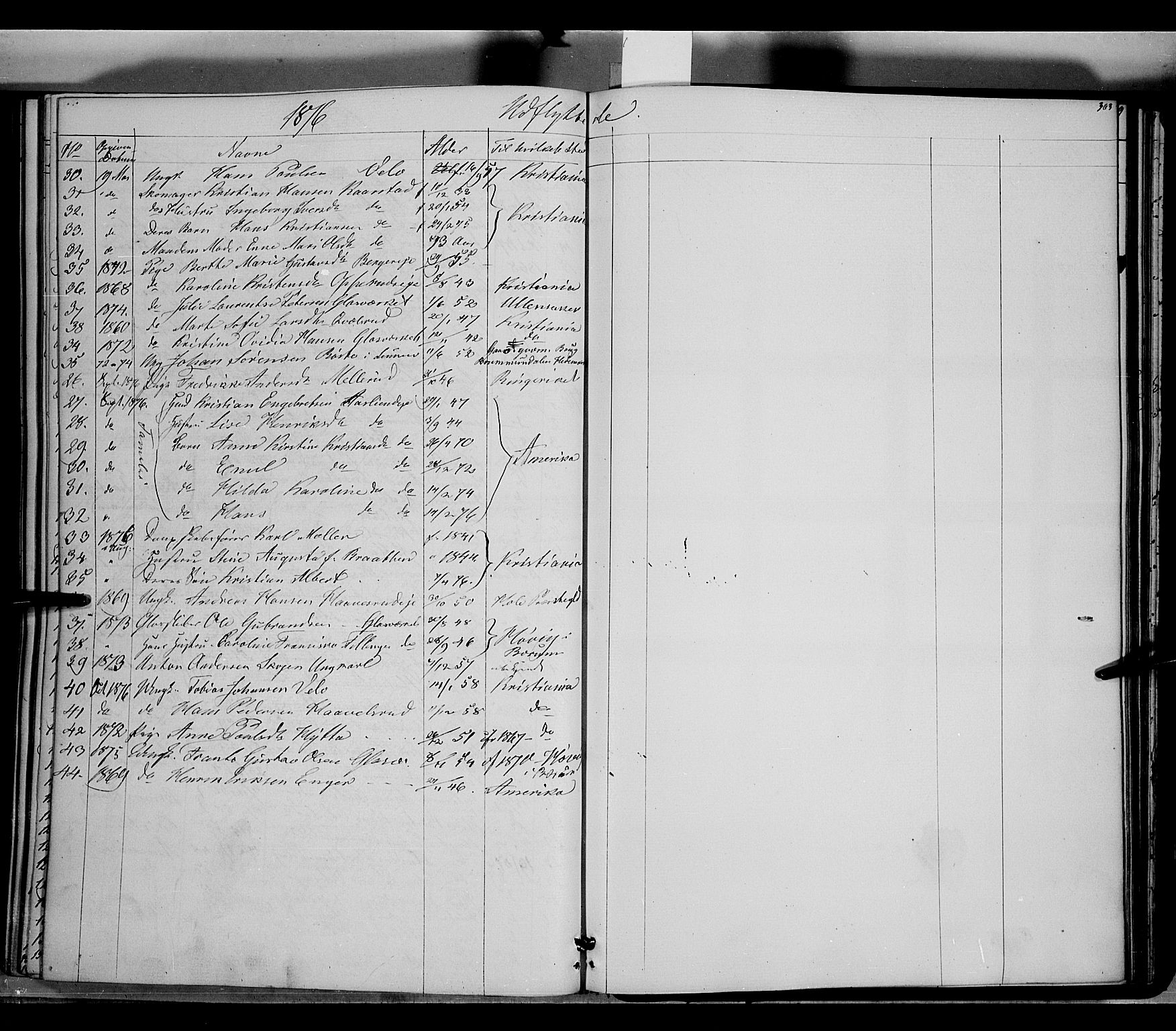 SAH, Jevnaker prestekontor, Ministerialbok nr. 7, 1858-1876, s. 303
