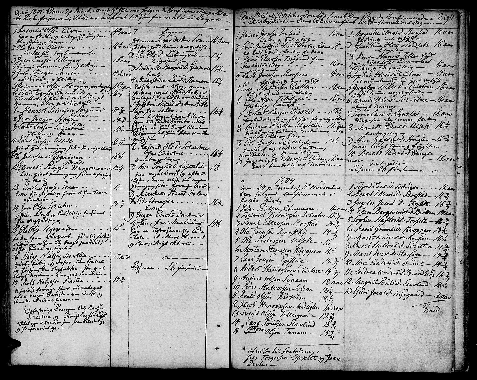 SAT, Ministerialprotokoller, klokkerbøker og fødselsregistre - Sør-Trøndelag, 618/L0438: Ministerialbok nr. 618A03, 1783-1815, s. 294