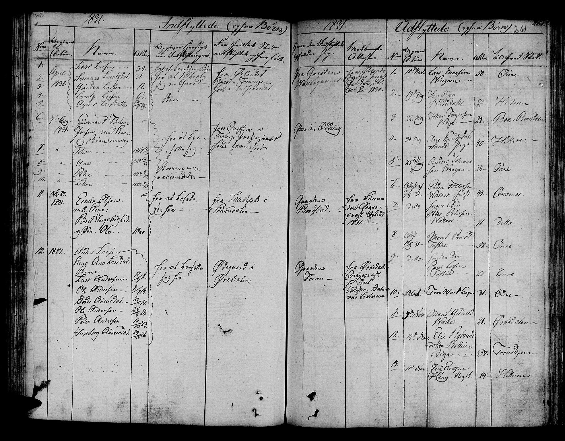 SAT, Ministerialprotokoller, klokkerbøker og fødselsregistre - Sør-Trøndelag, 630/L0492: Ministerialbok nr. 630A05, 1830-1840, s. 261