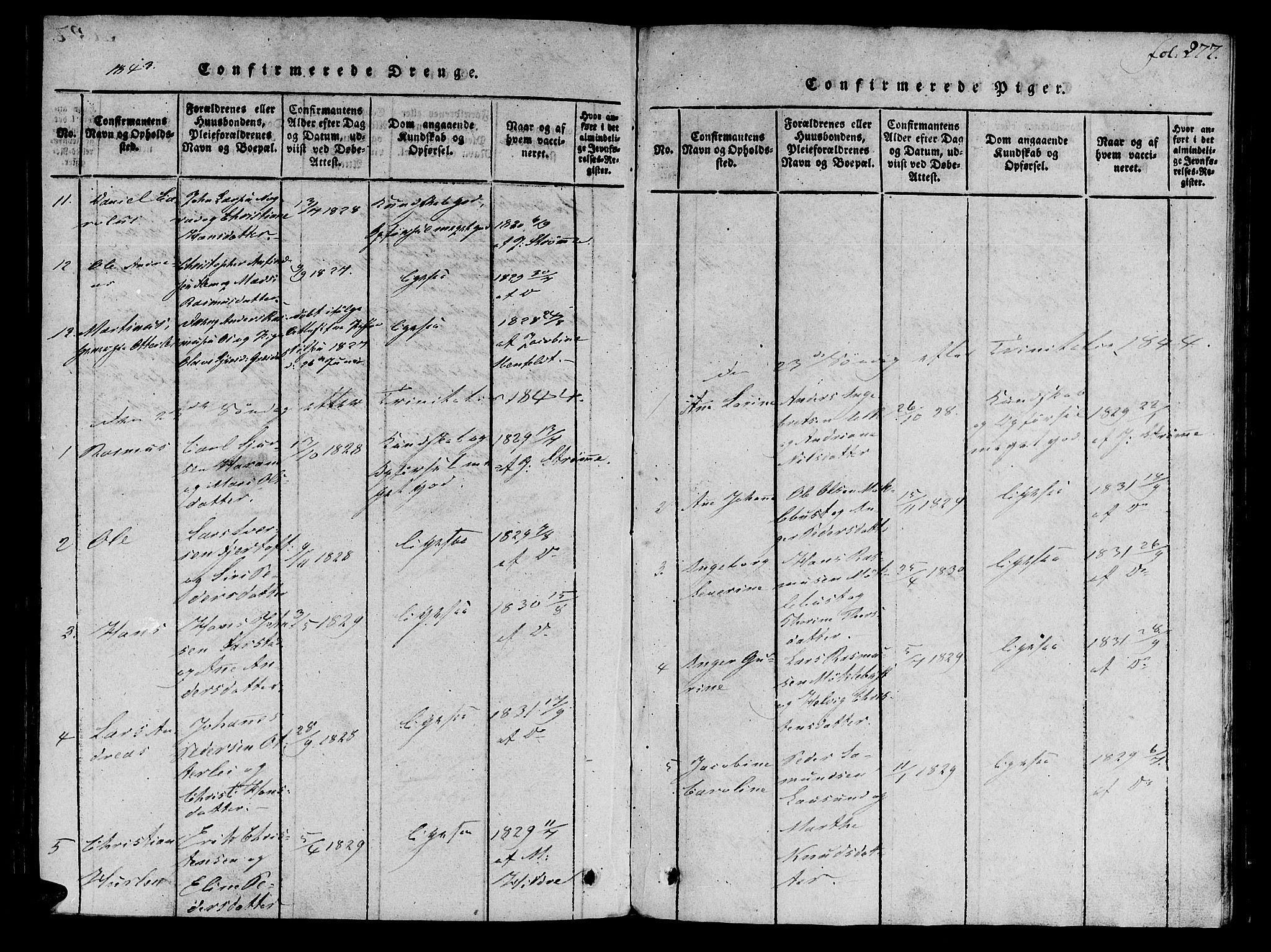 SAT, Ministerialprotokoller, klokkerbøker og fødselsregistre - Møre og Romsdal, 536/L0495: Ministerialbok nr. 536A04, 1818-1847, s. 277