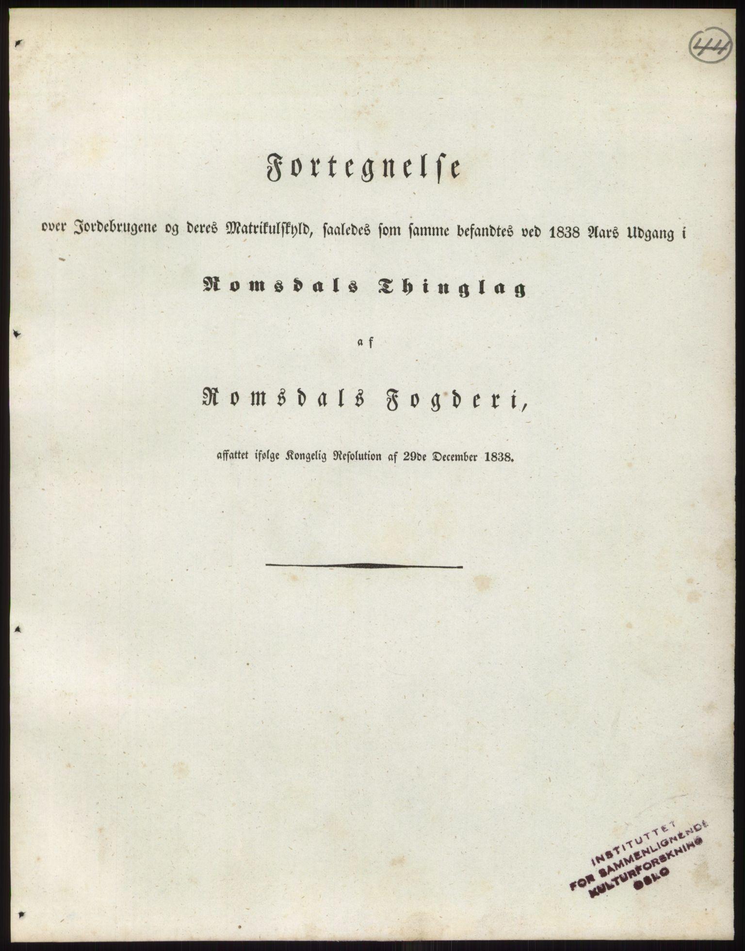 PUBL, Andre publikasjoner, -/Bind 14: Romsdals amt, 1838, s. 75