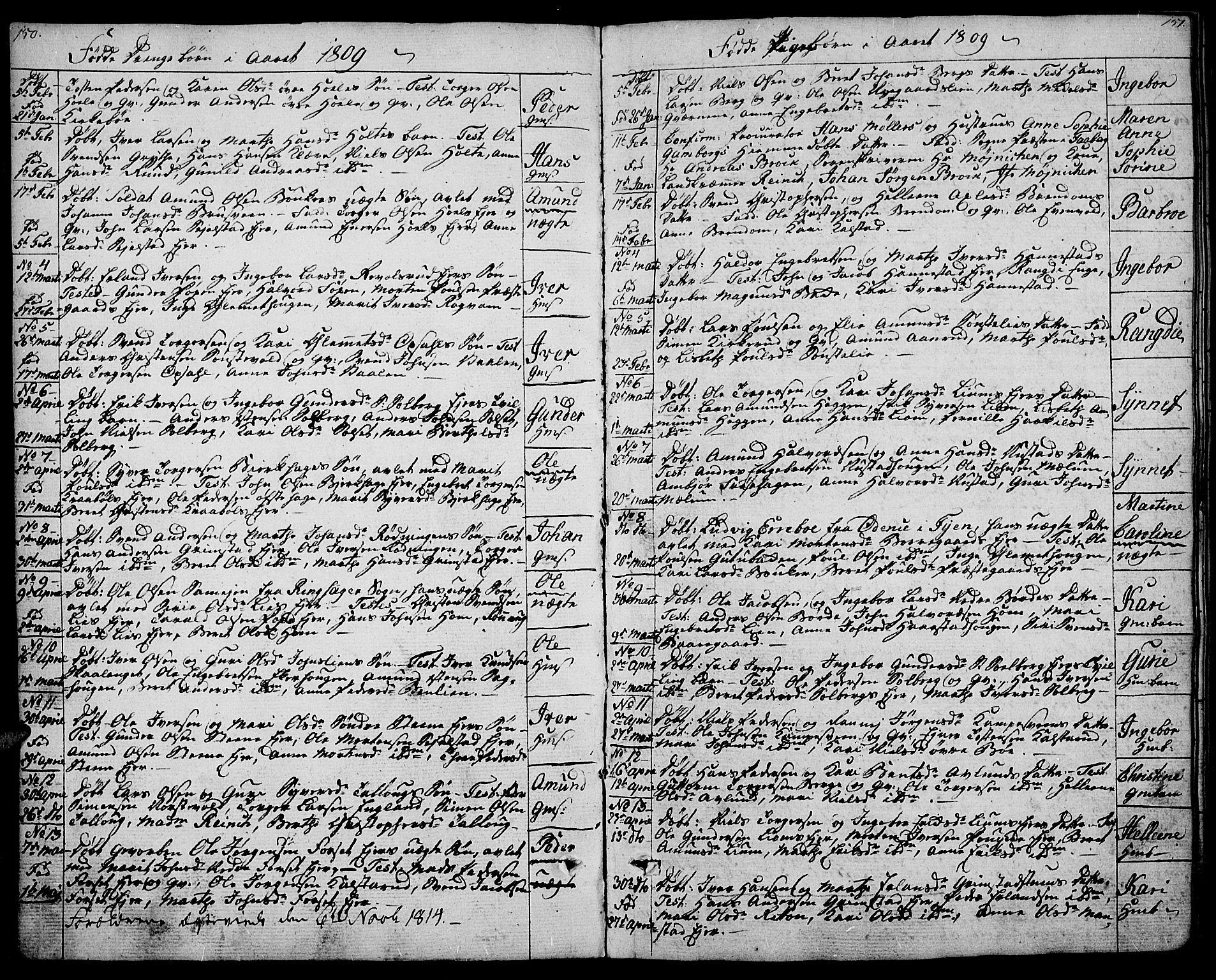 SAH, Gausdal prestekontor, Ministerialbok nr. 4, 1809-1817, s. 150-151