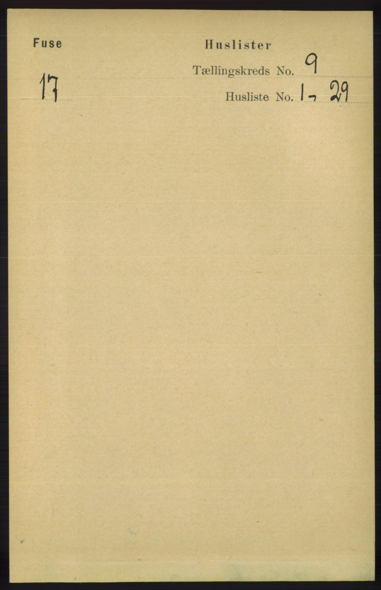RA, Folketelling 1891 for 1241 Fusa herred, 1891, s. 1660