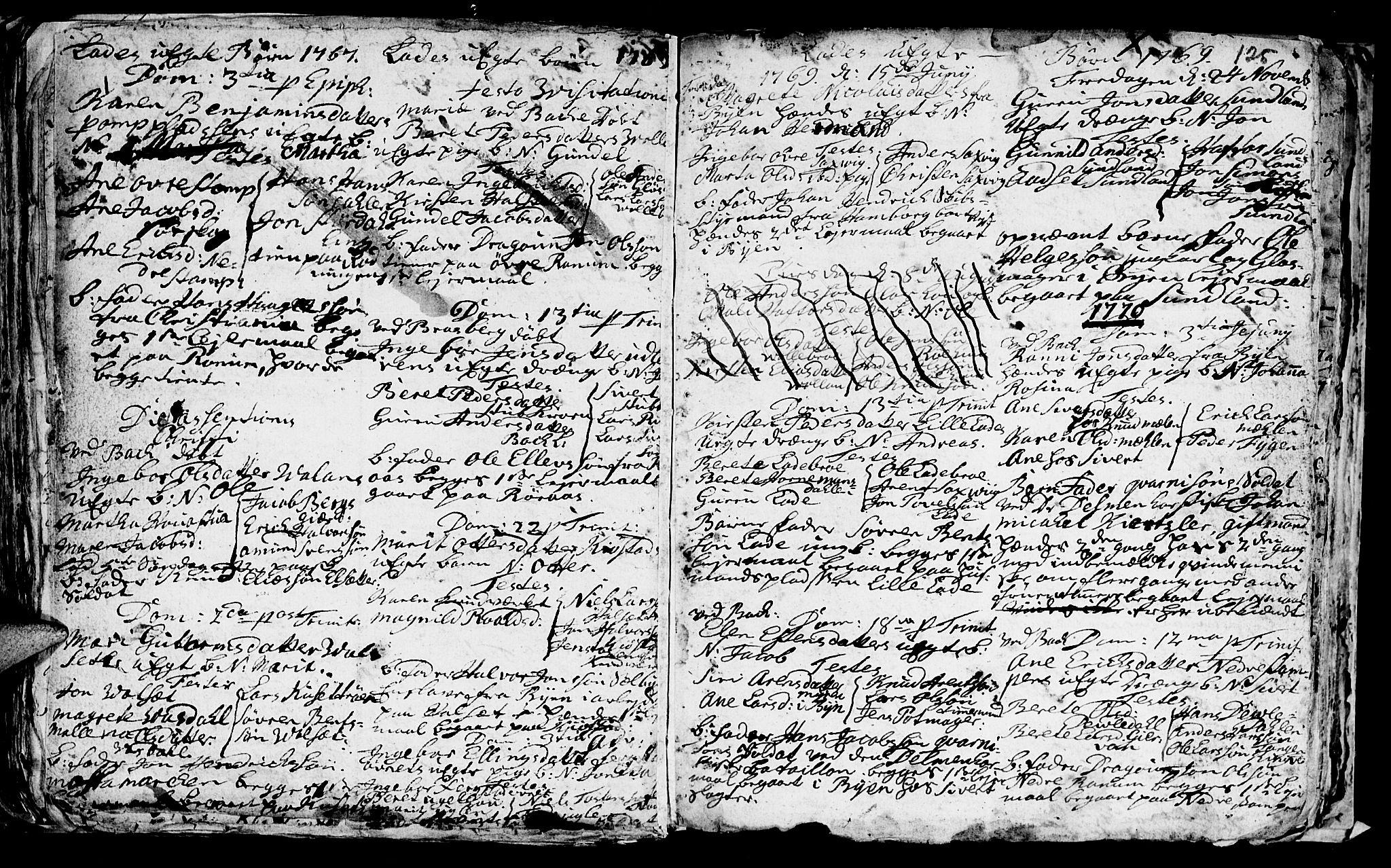 SAT, Ministerialprotokoller, klokkerbøker og fødselsregistre - Sør-Trøndelag, 606/L0305: Klokkerbok nr. 606C01, 1757-1819, s. 125