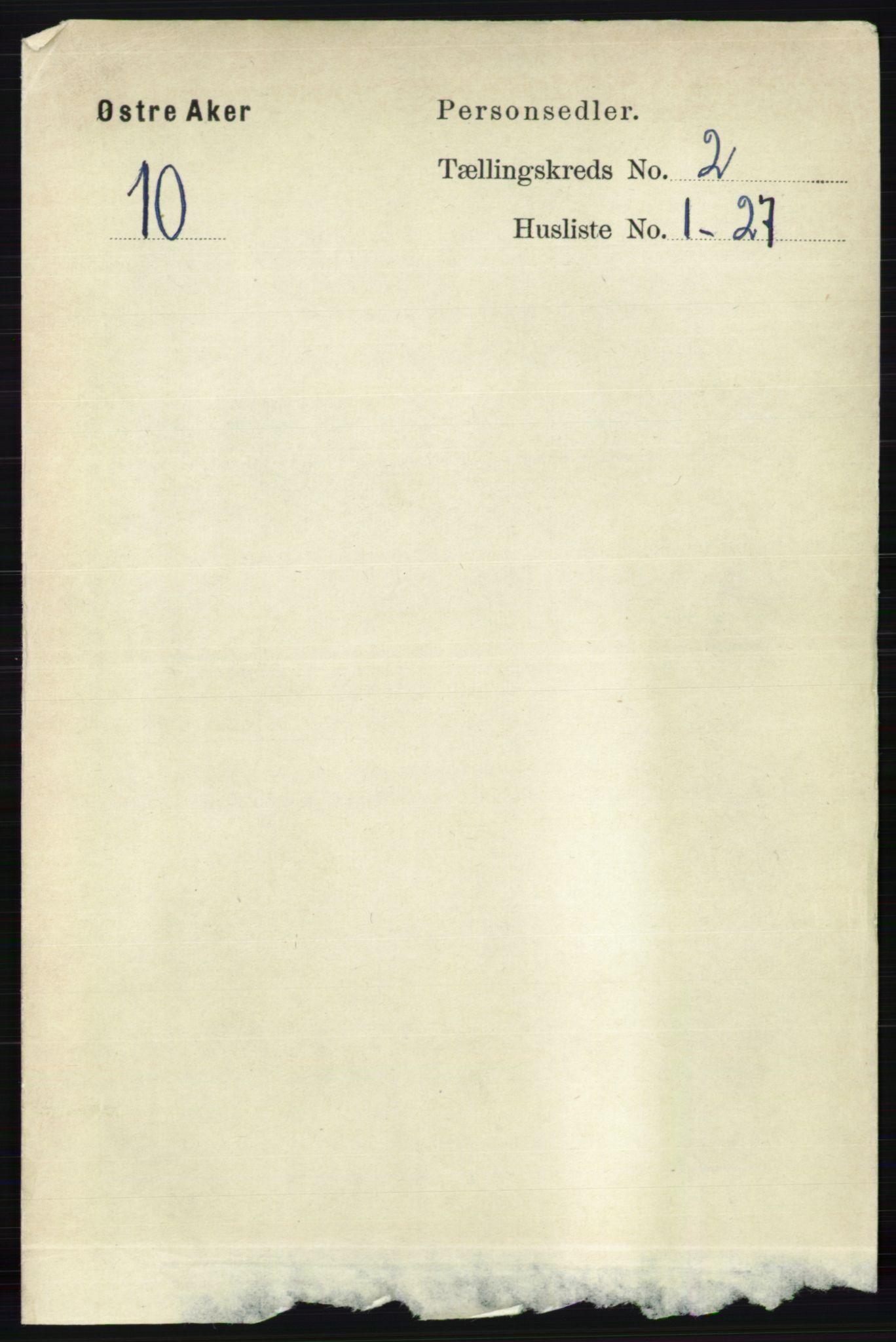 RA, Folketelling 1891 for 0218 Aker herred, 1891, s. 1358