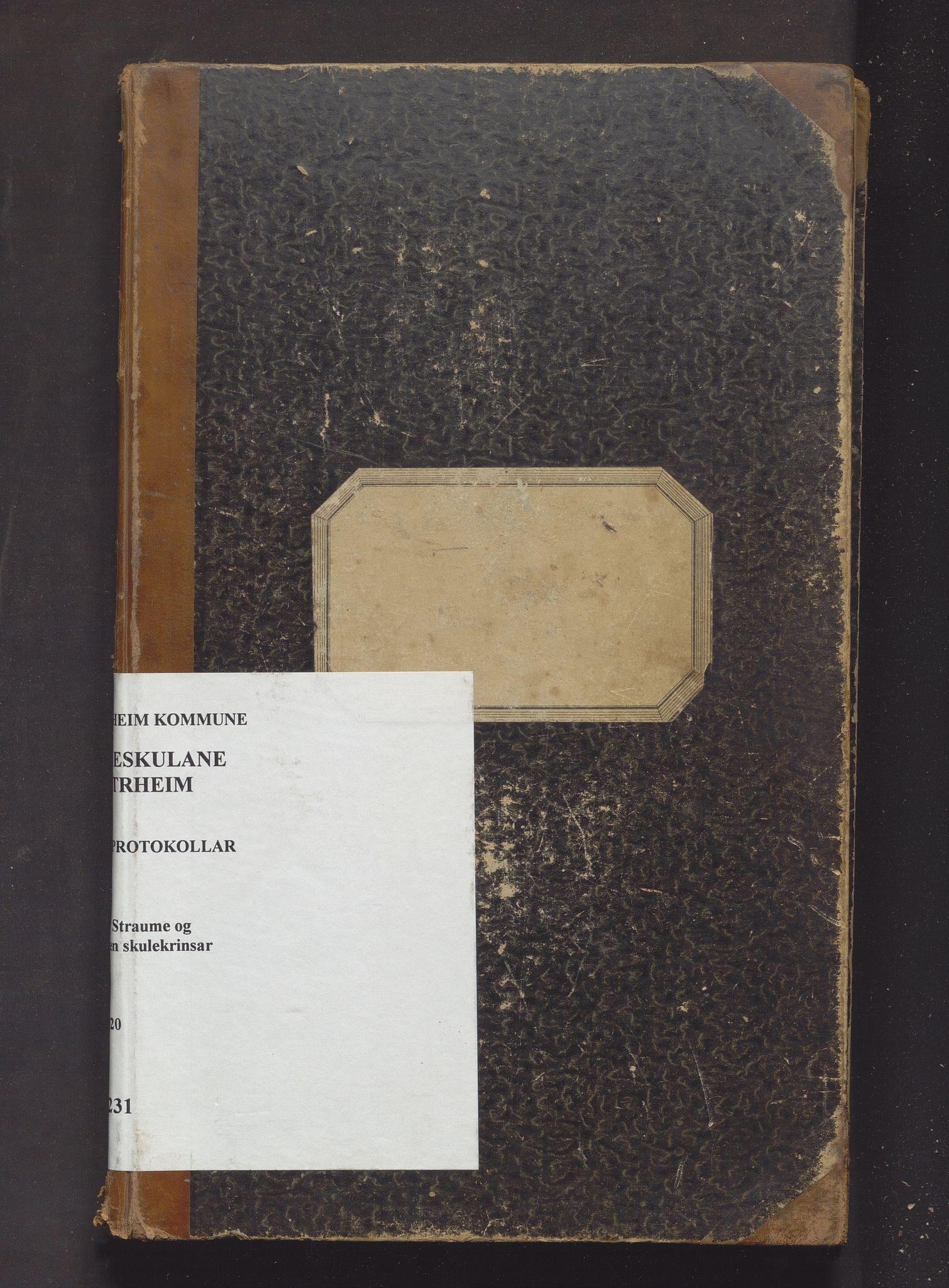IKAH, Austrheim kommune. Barneskulane, F/Fa/L0013: Skuleprotokoll for Rebnor, Straume og Øygarden, 1900-1920