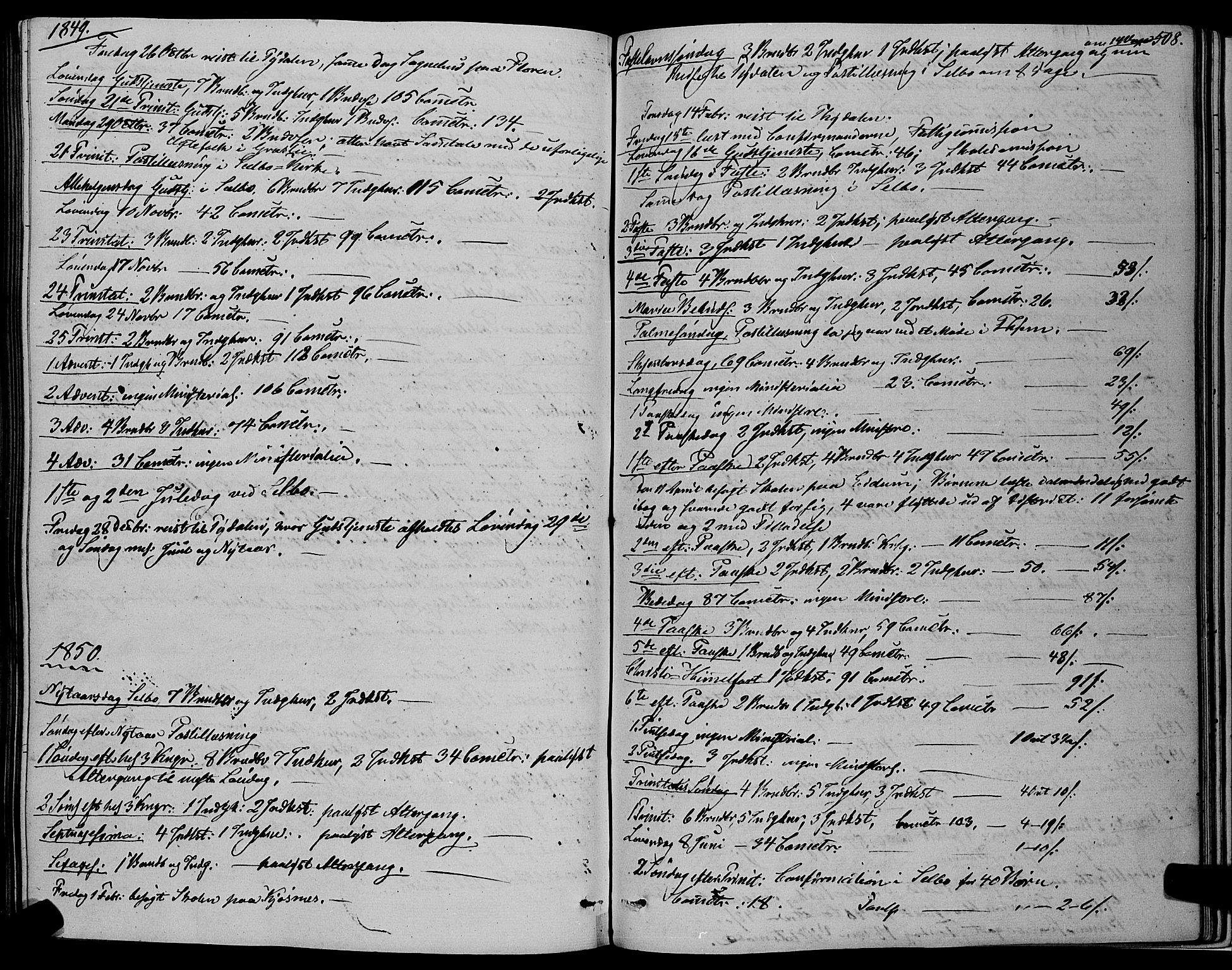 SAT, Ministerialprotokoller, klokkerbøker og fødselsregistre - Sør-Trøndelag, 695/L1145: Ministerialbok nr. 695A06 /1, 1843-1859, s. 508