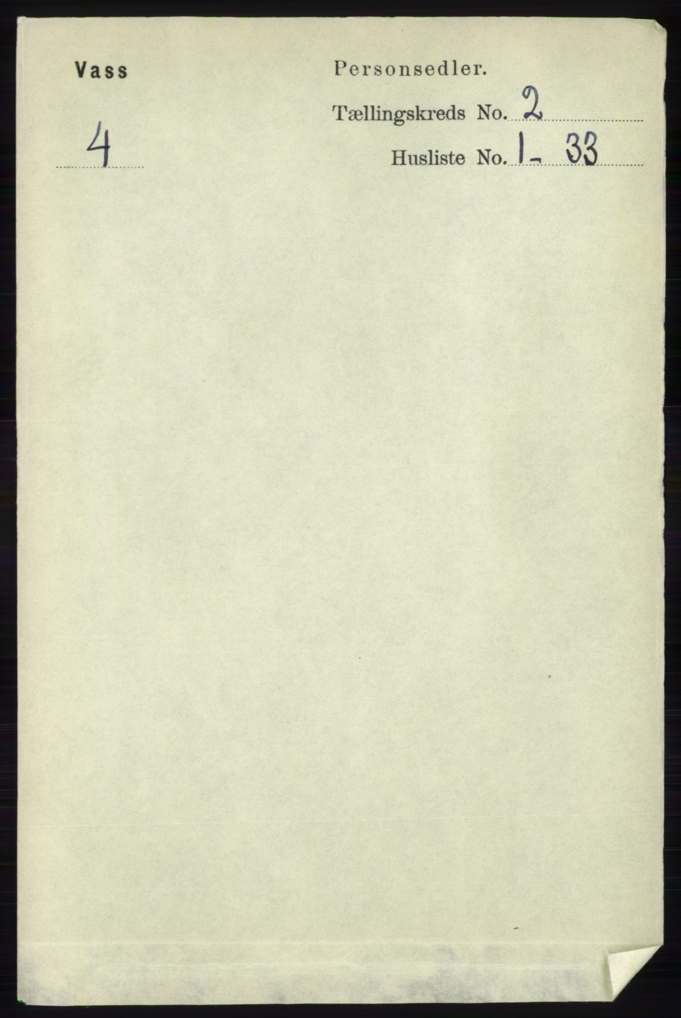 RA, Folketelling 1891 for 1155 Vats herred, 1891, s. 207