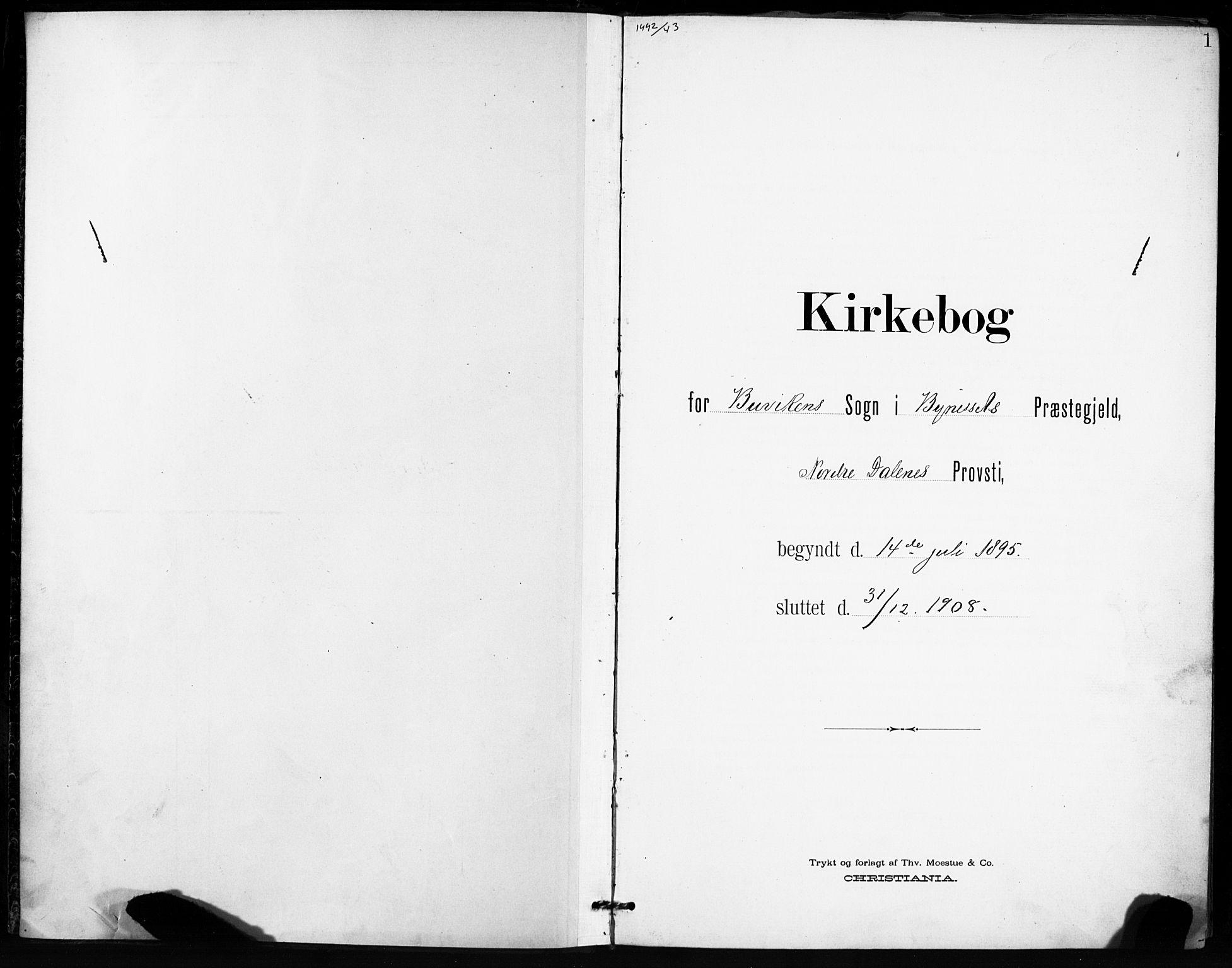 SAT, Ministerialprotokoller, klokkerbøker og fødselsregistre - Sør-Trøndelag, 666/L0787: Ministerialbok nr. 666A05, 1895-1908, s. 1