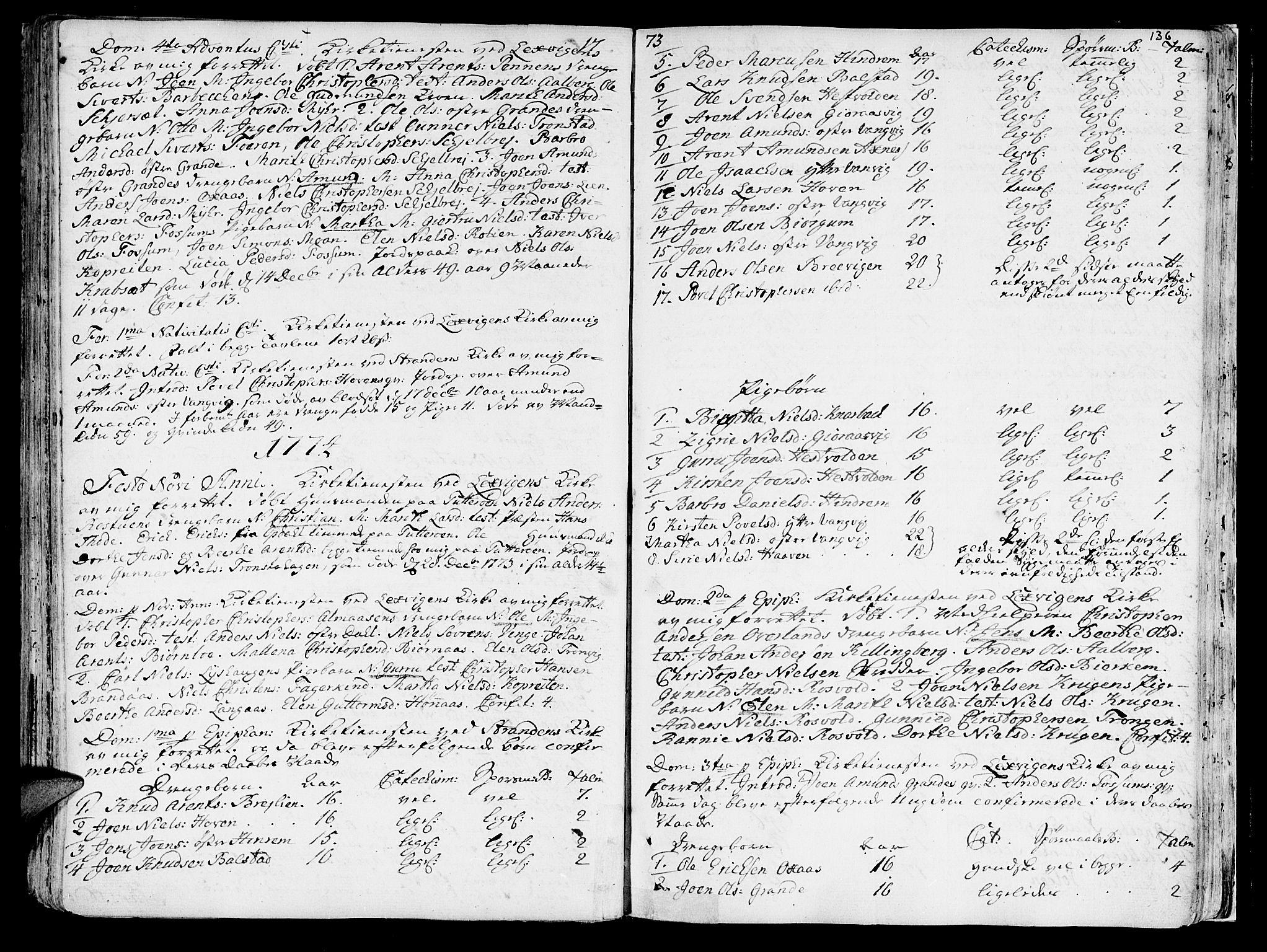 SAT, Ministerialprotokoller, klokkerbøker og fødselsregistre - Nord-Trøndelag, 701/L0003: Ministerialbok nr. 701A03, 1751-1783, s. 136