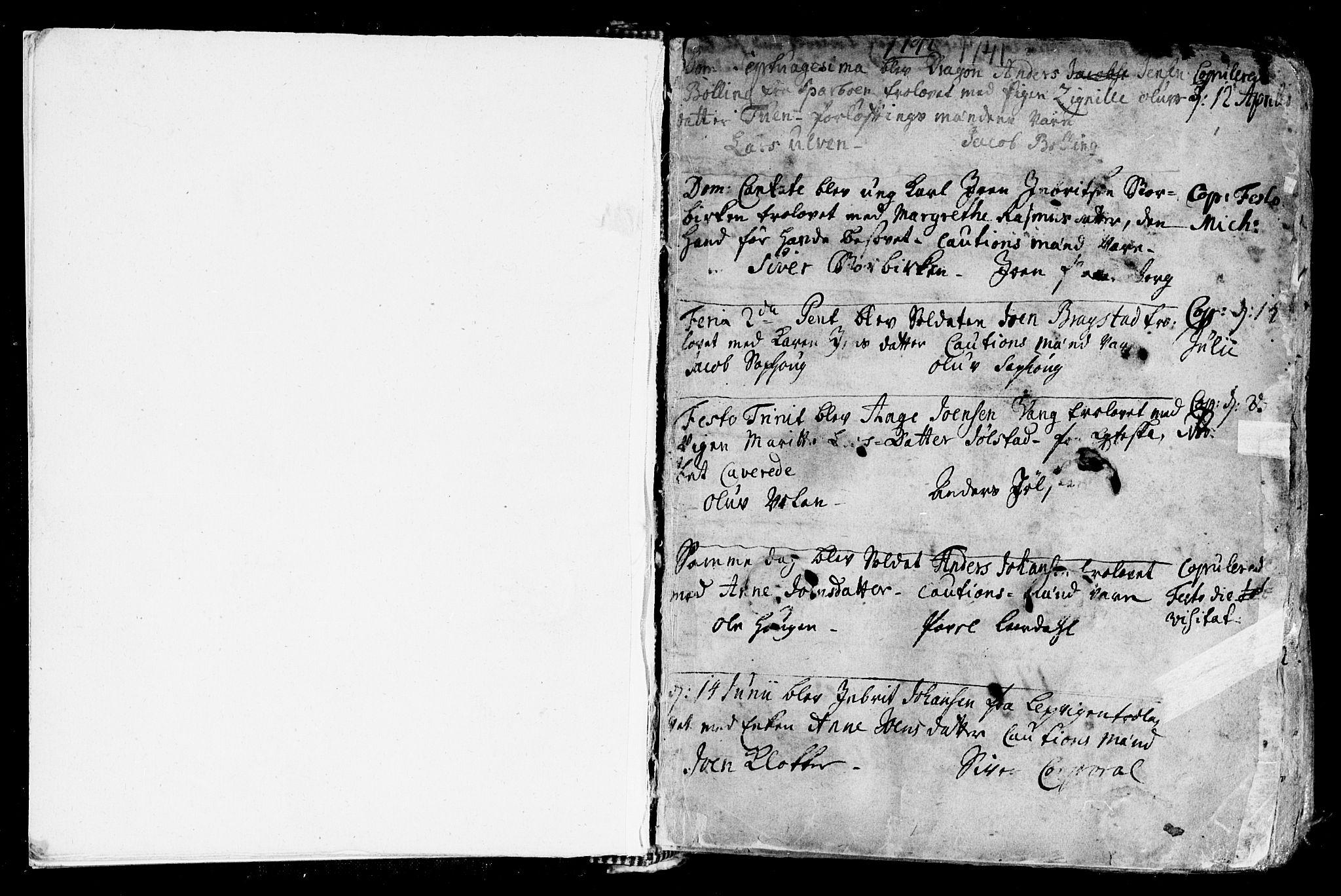 SAT, Ministerialprotokoller, klokkerbøker og fødselsregistre - Nord-Trøndelag, 730/L0272: Ministerialbok nr. 730A01, 1733-1764, s. 1