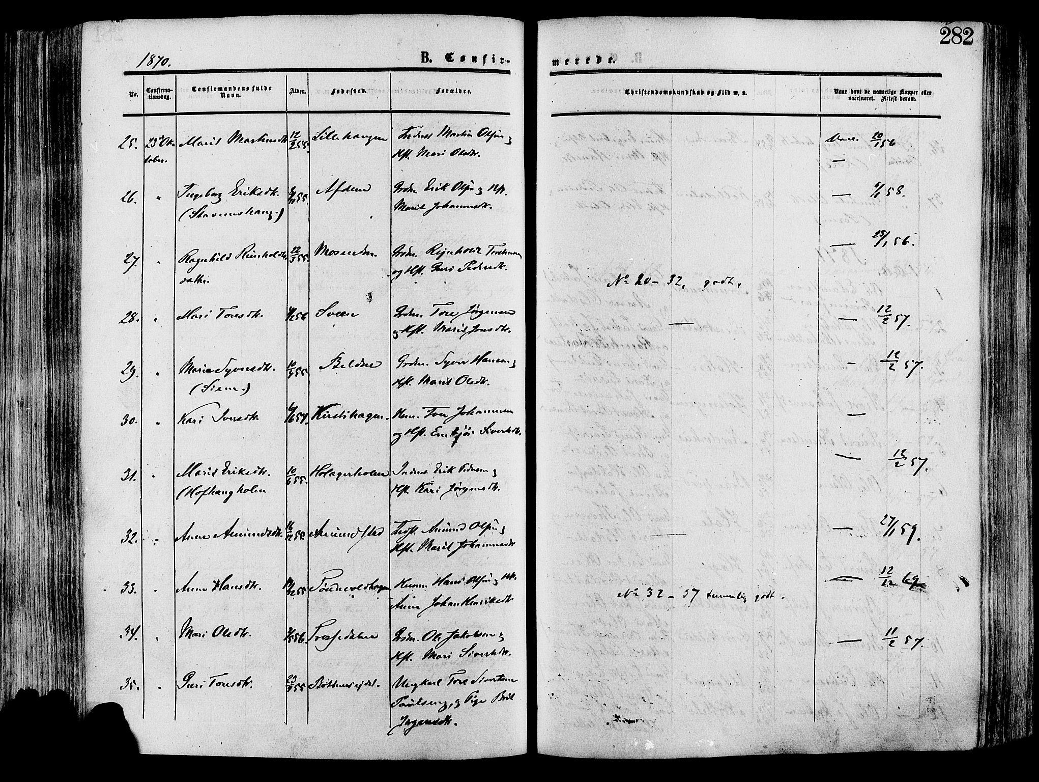 SAH, Lesja prestekontor, Ministerialbok nr. 8, 1854-1880, s. 282