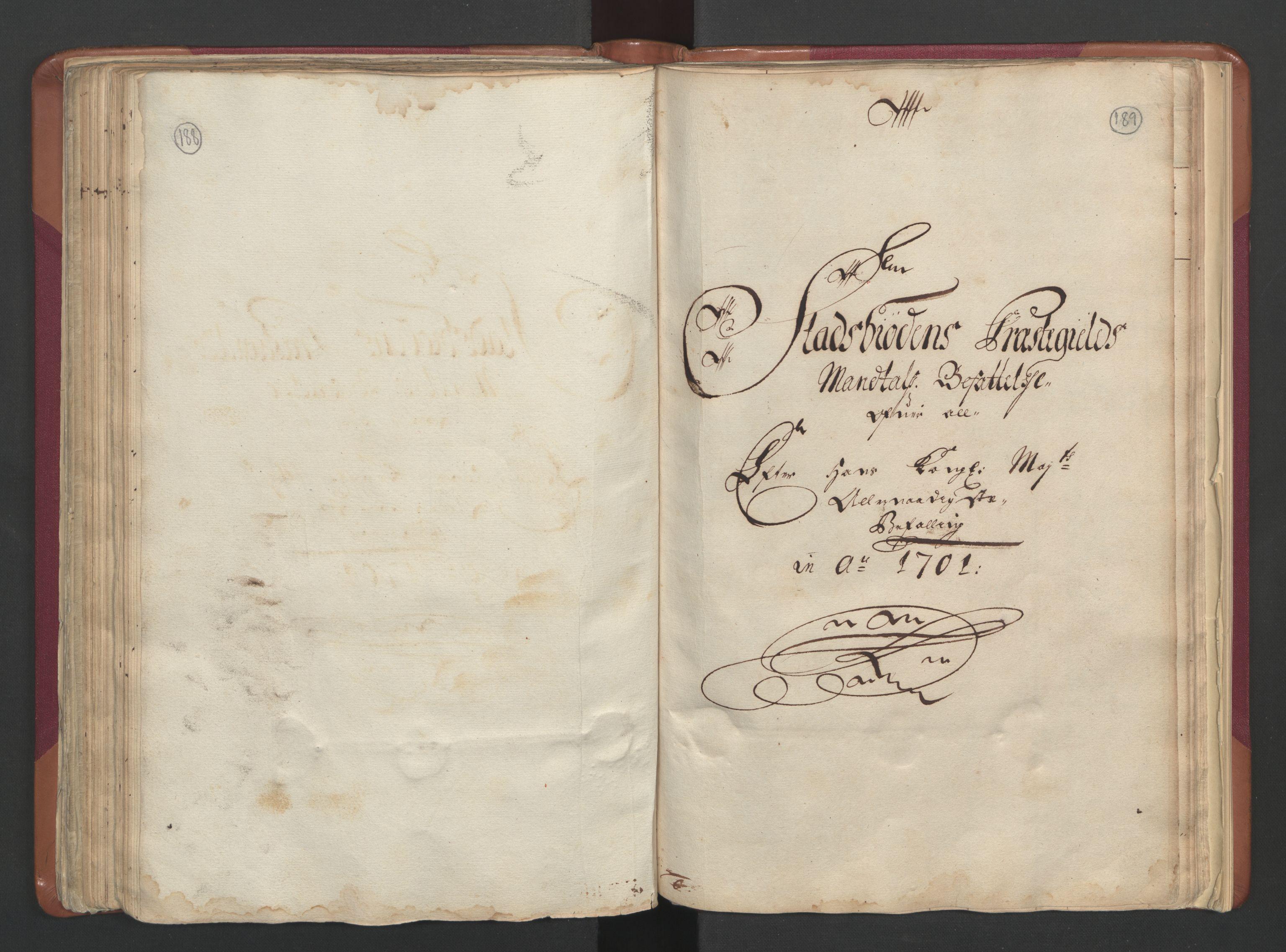 RA, Manntallet 1701, nr. 12: Fosen fogderi, 1701, s. 188-189