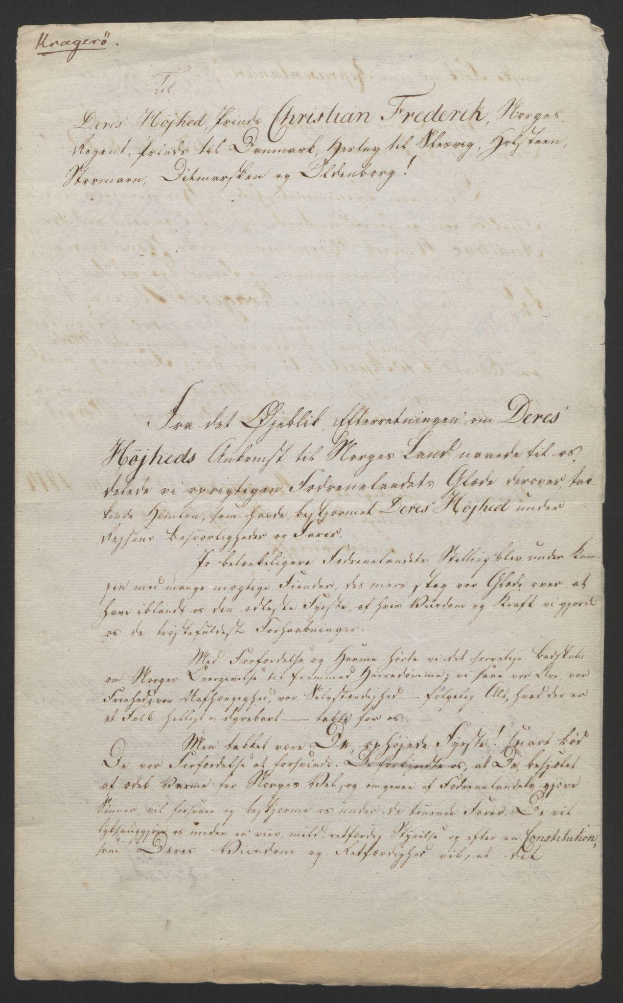 RA, Statsrådssekretariatet, D/Db/L0007: Fullmakter for Eidsvollsrepresentantene i 1814. , 1814, s. 22