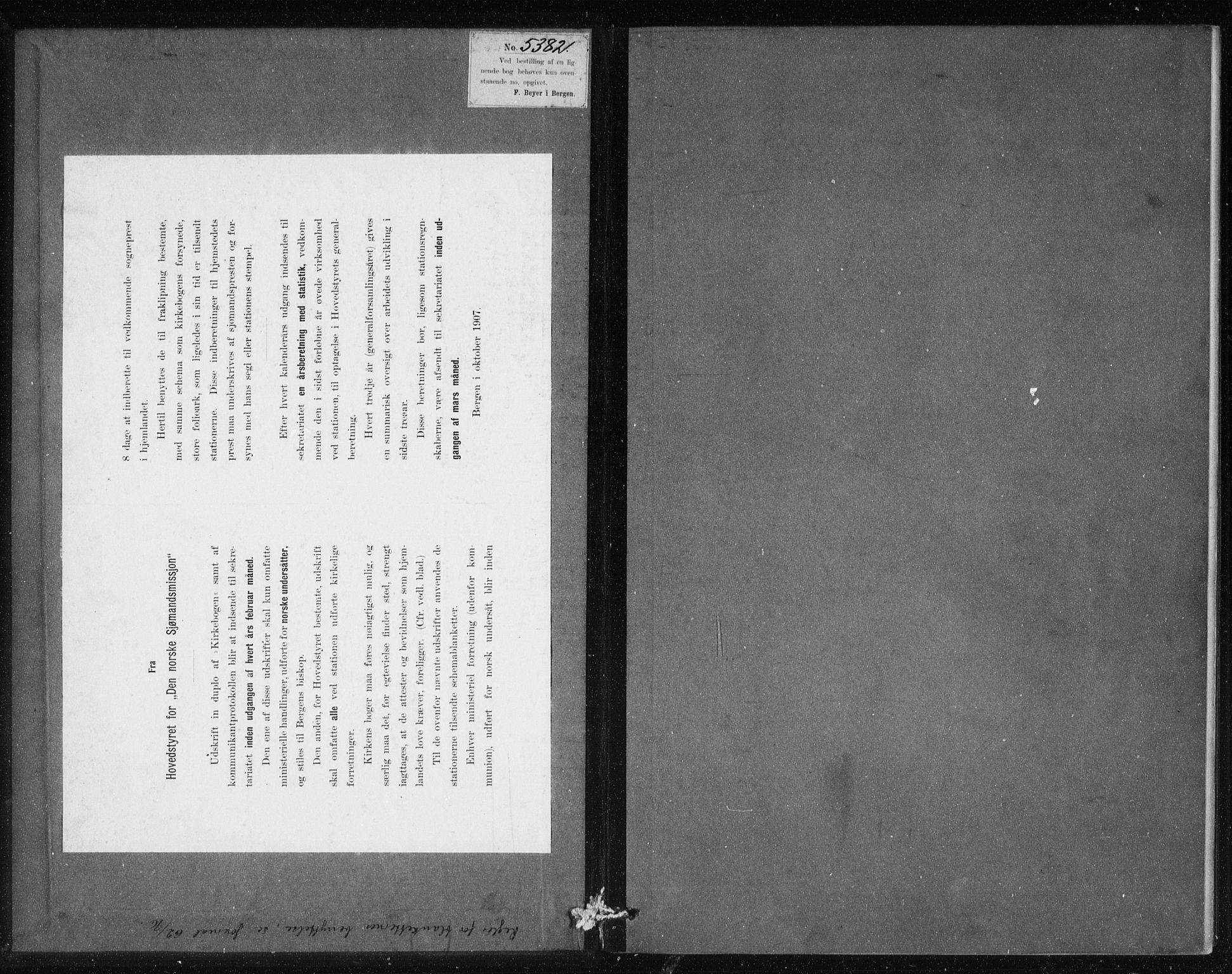 SAB, Den Norske Sjømannsmisjon i utlandet*, Ministerialbok nr. A 2, 1883-1936