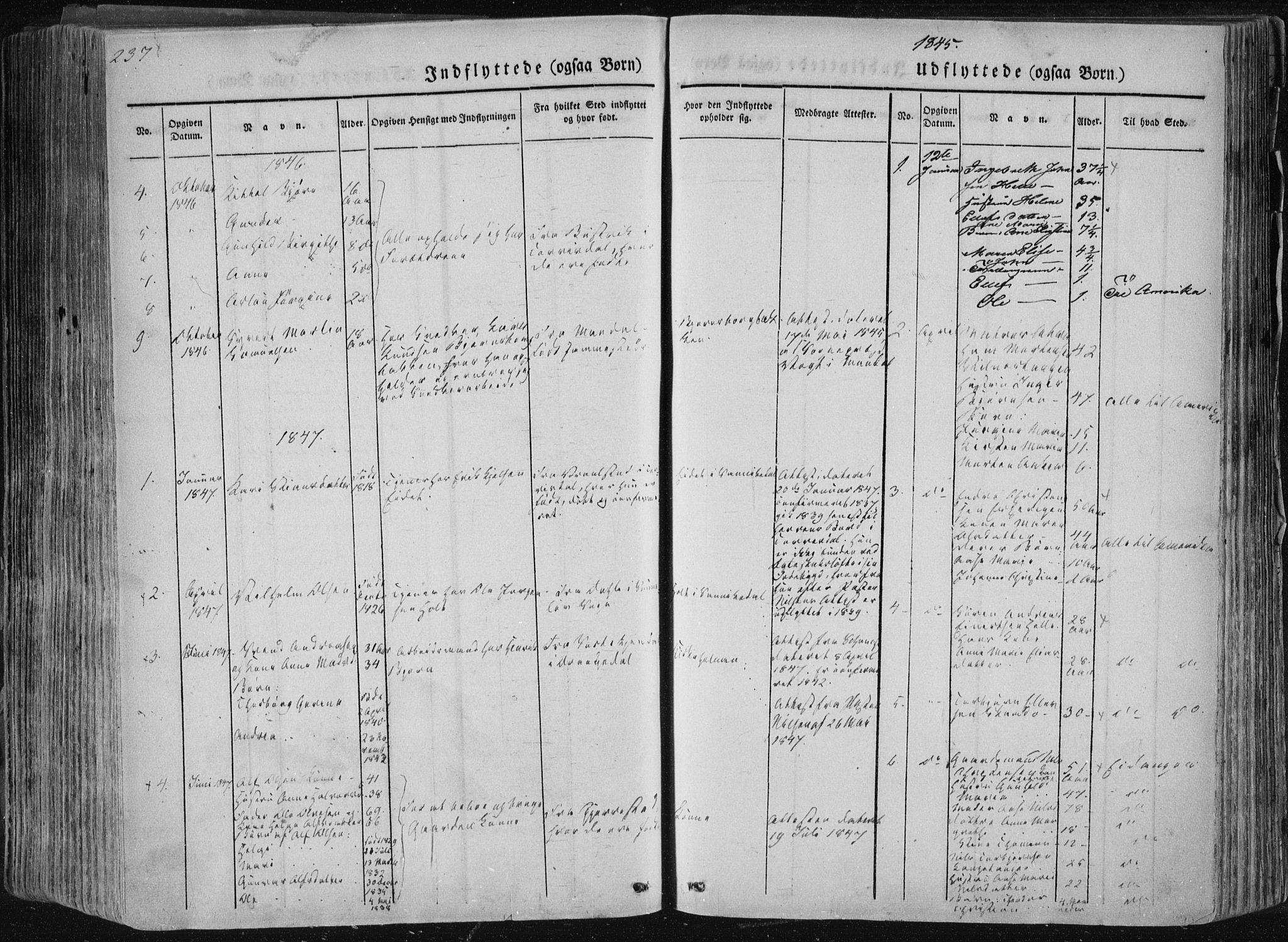 SAKO, Sannidal kirkebøker, F/Fa/L0007: Ministerialbok nr. 7, 1831-1854, s. 237