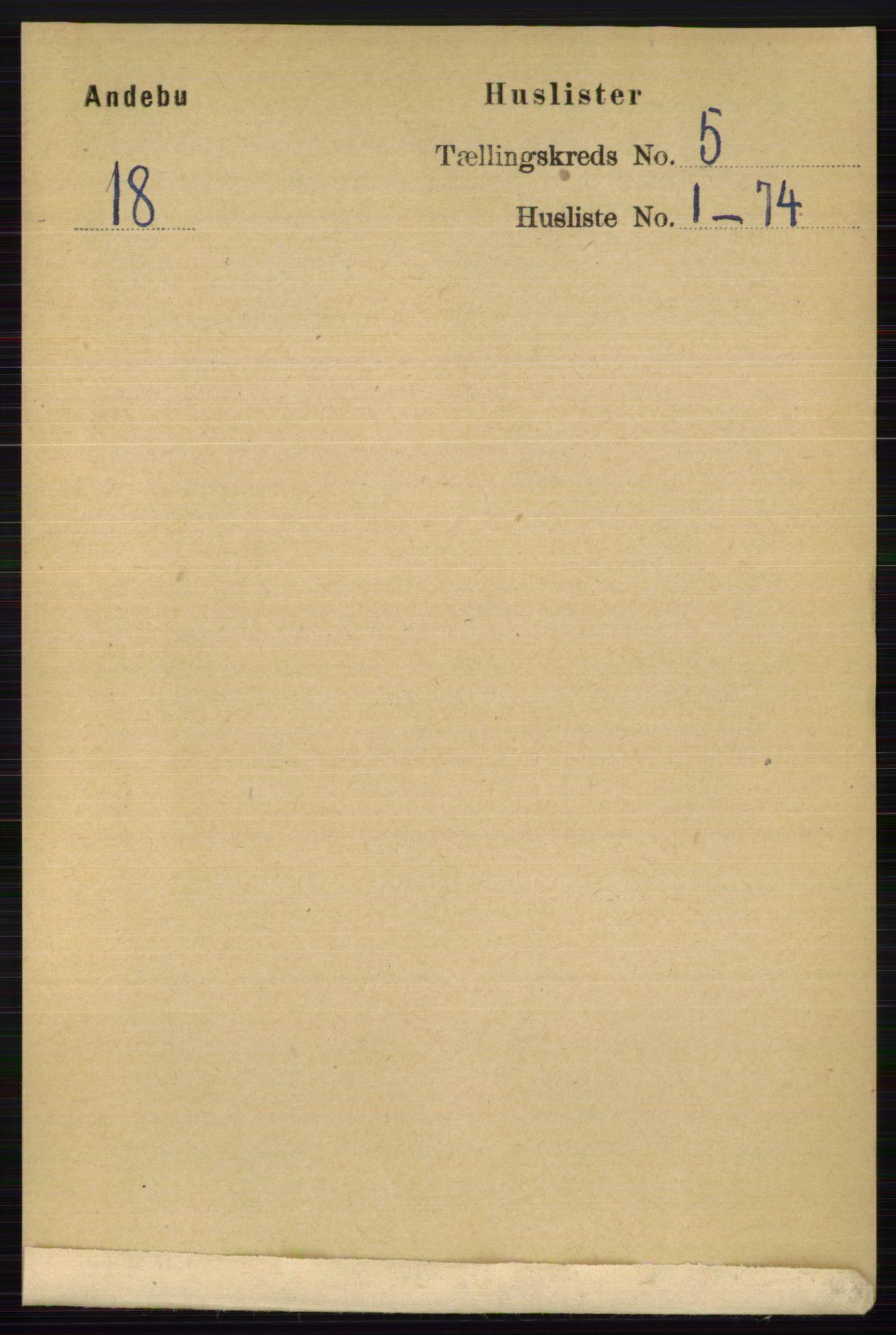 RA, Folketelling 1891 for 0719 Andebu herred, 1891, s. 2577