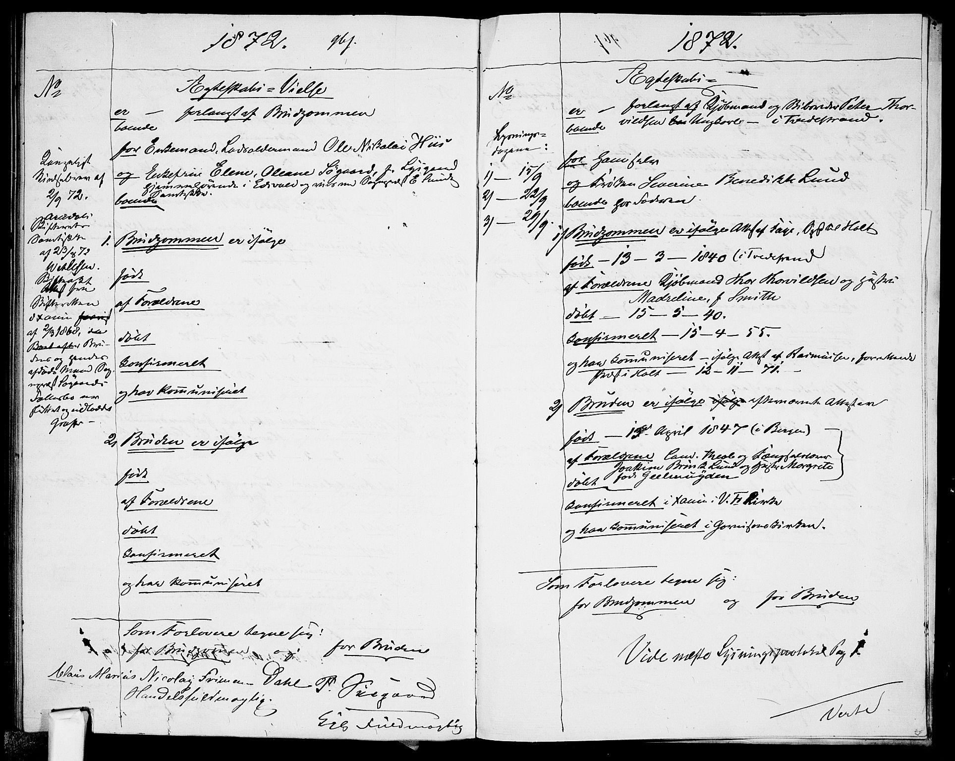 SAO, Garnisonsmenigheten Kirkebøker, H/Ha/L0006: Lysningsprotokoll nr. I 6, 1856-1872